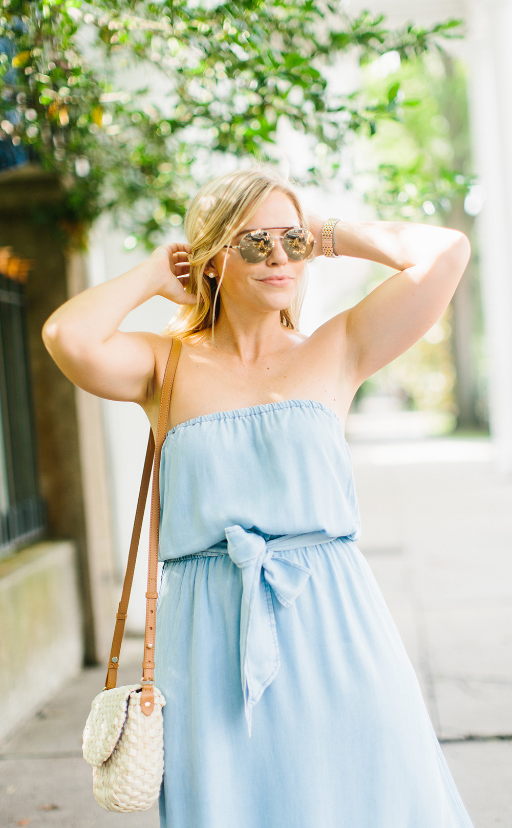 Chambray Column Maxi | Living In Color Print