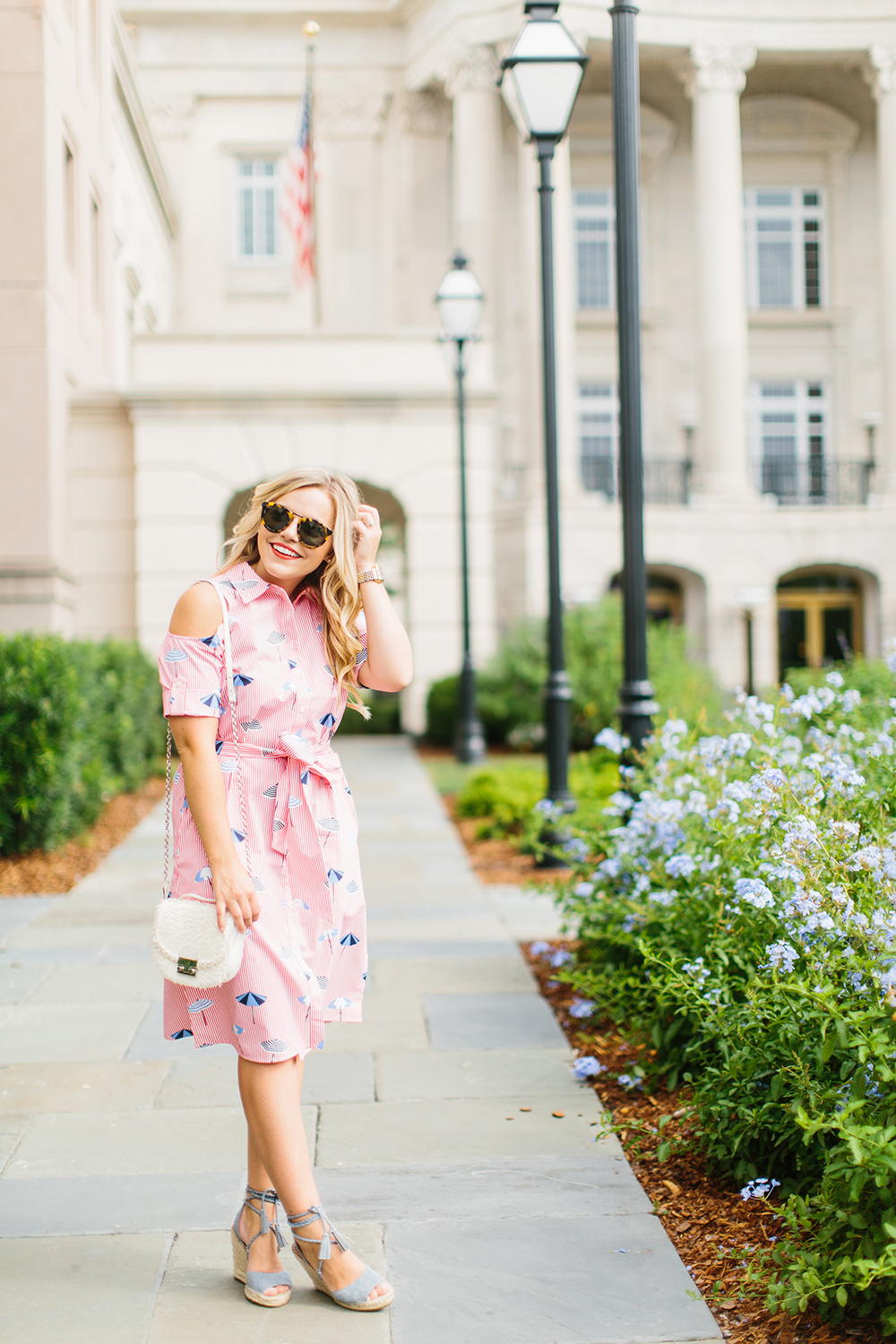 Draper James Umbrella Midi Dress | Living In Color Print