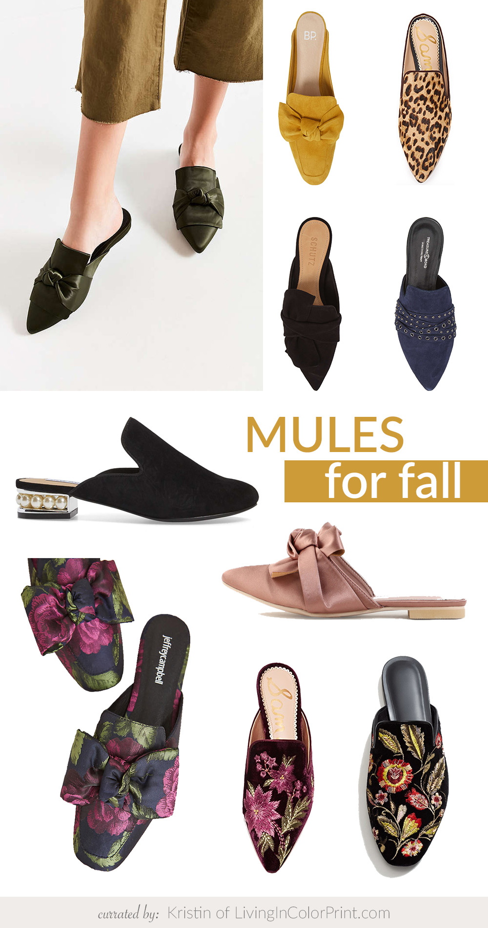 Backless Mules for Fall