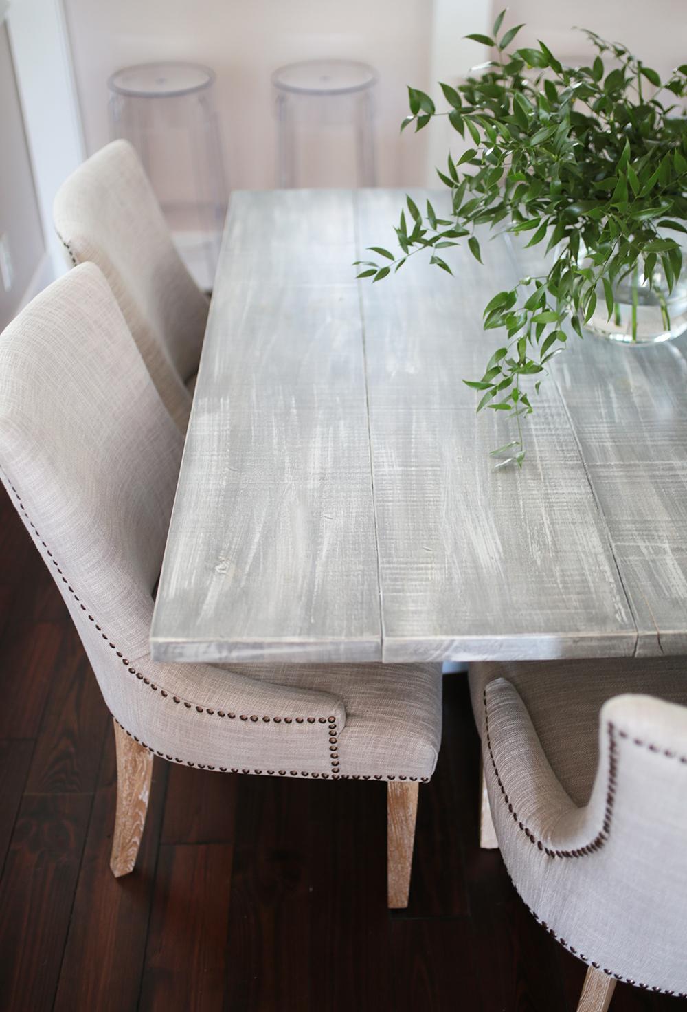 White Wash Farmhouse Table