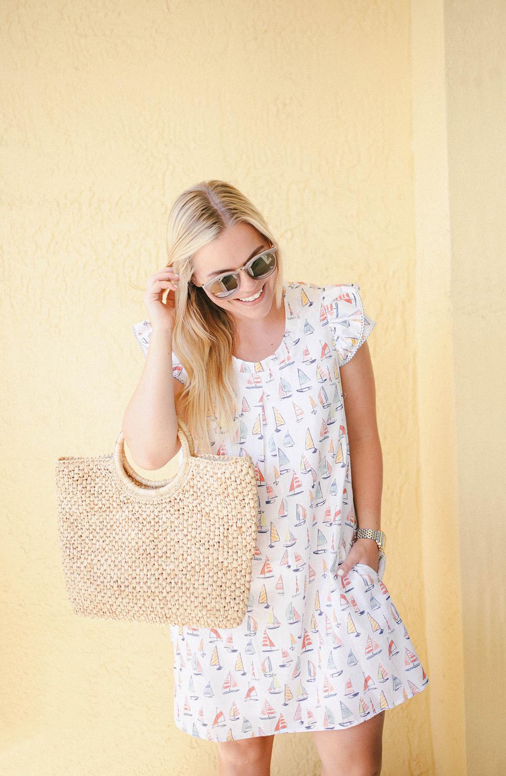 Persifor Sailboat Print Dress