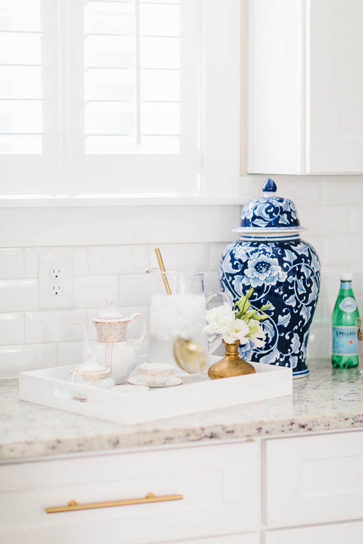 Styled Tea Set Tray