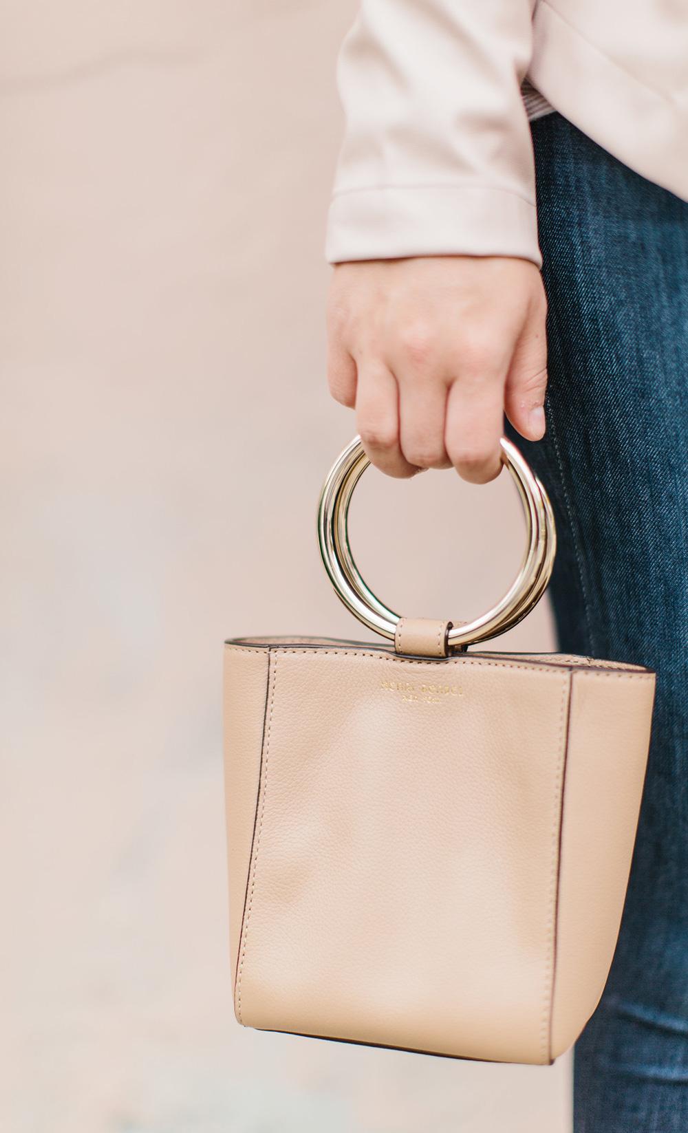Henri Bendel Circle Handle Handbag