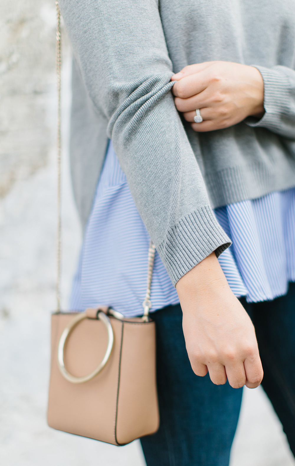Layered Grey Sweater