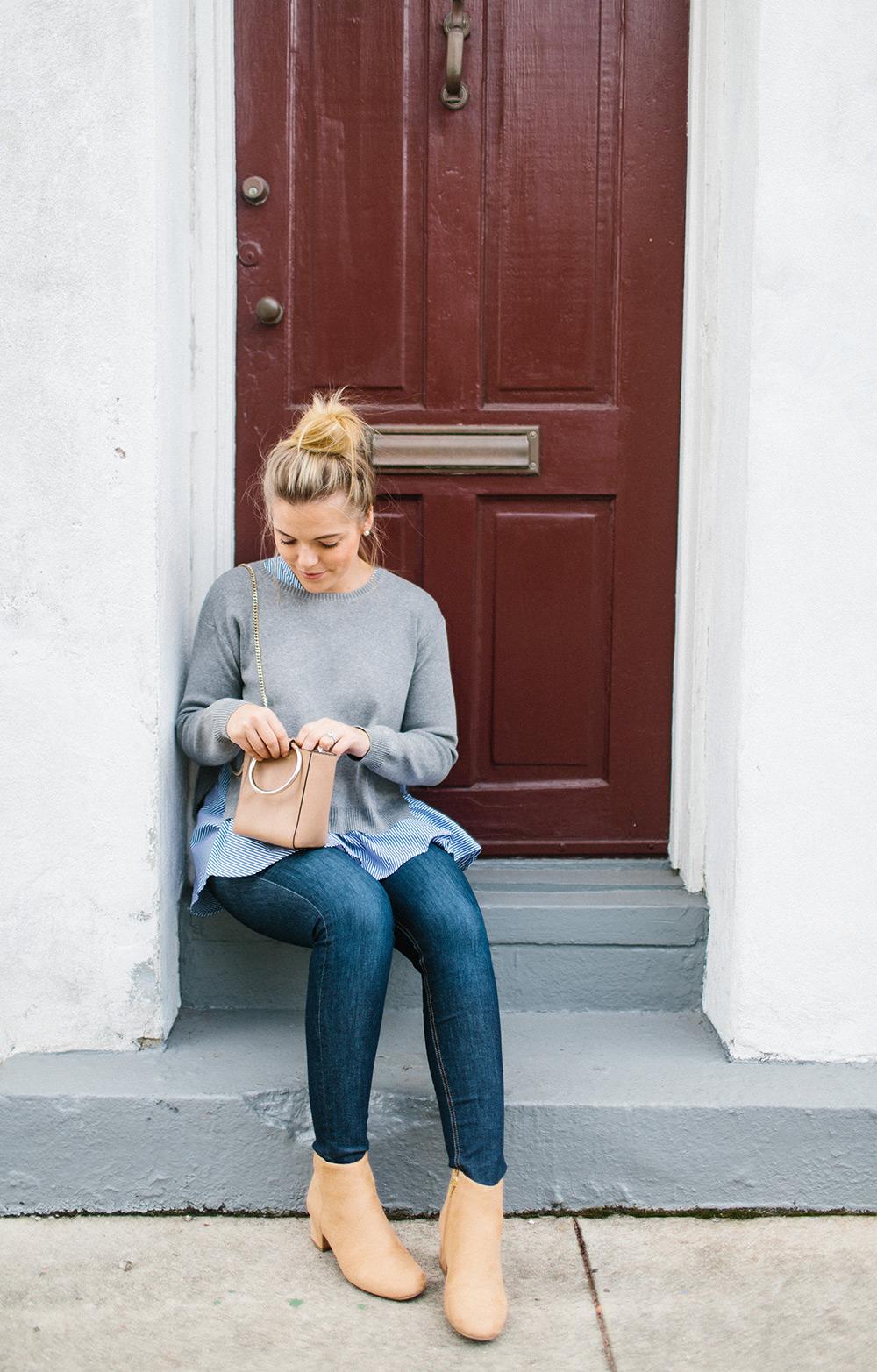 Layered Grey Sweater