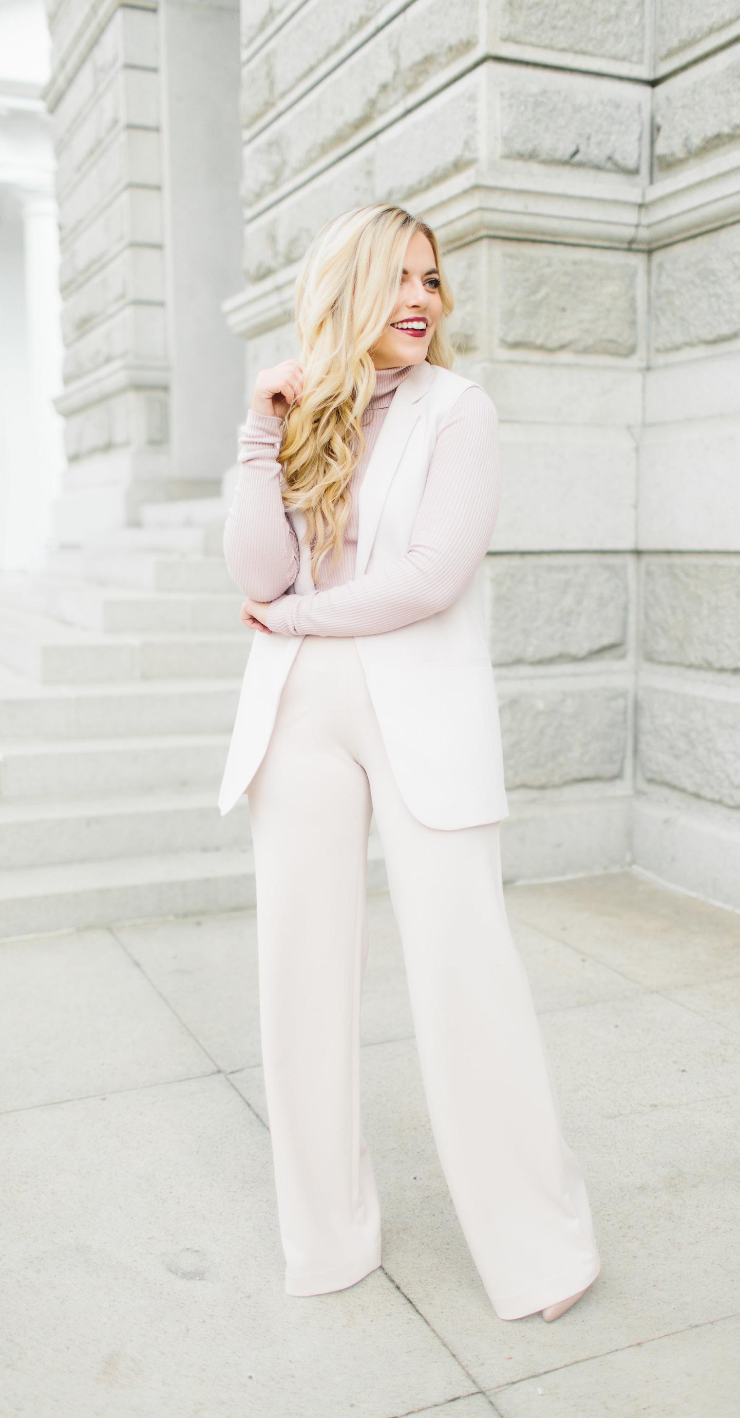 Blush Pink Suit