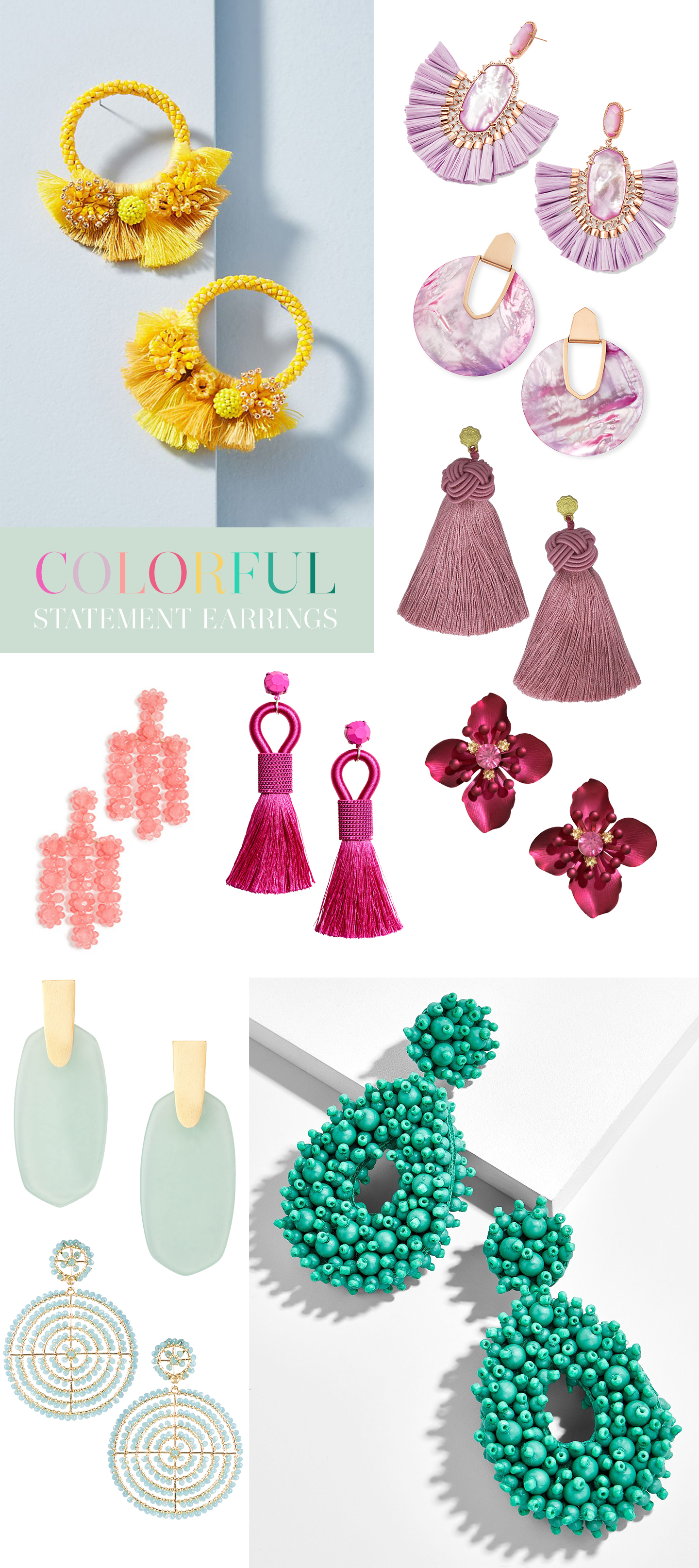 Colorful Statement Earrings