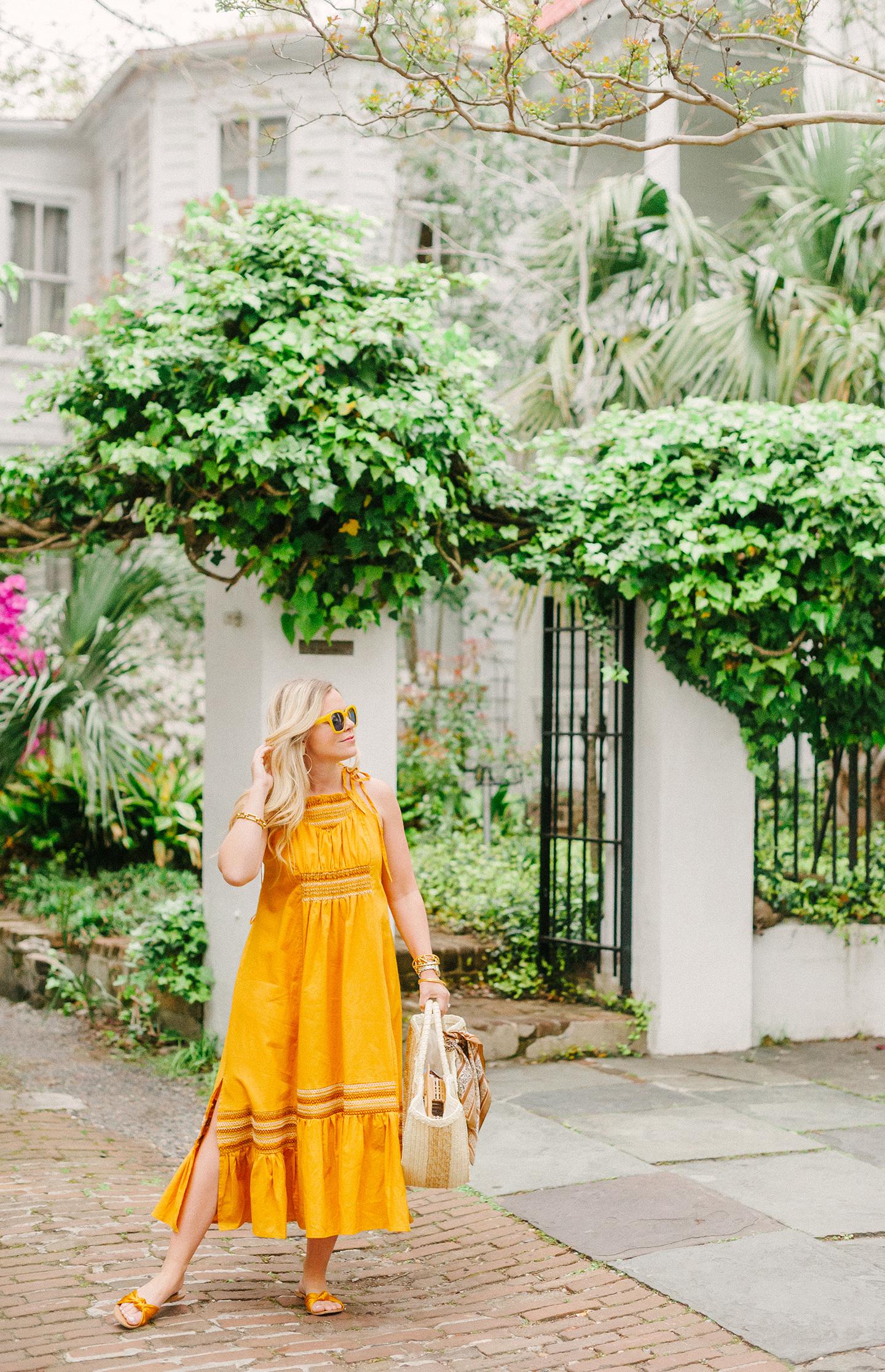 Mustard Boho Maxi Dress