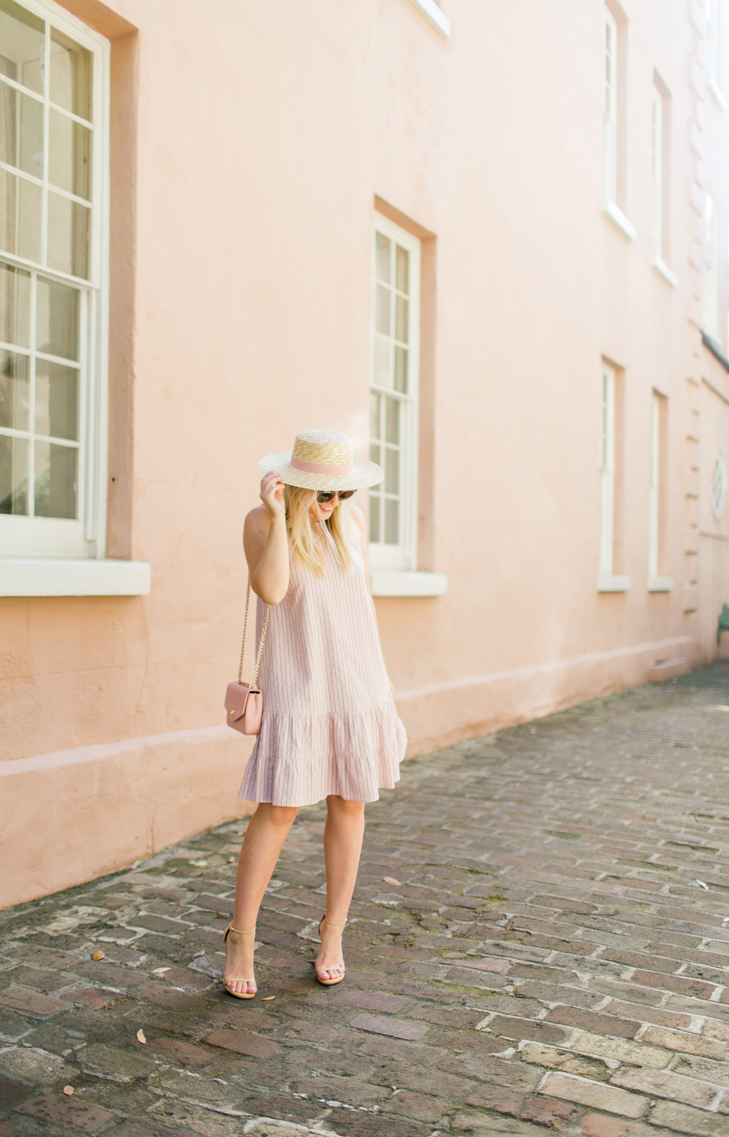 Pale Pink Drop Waist Dress by Rebecca Taylor