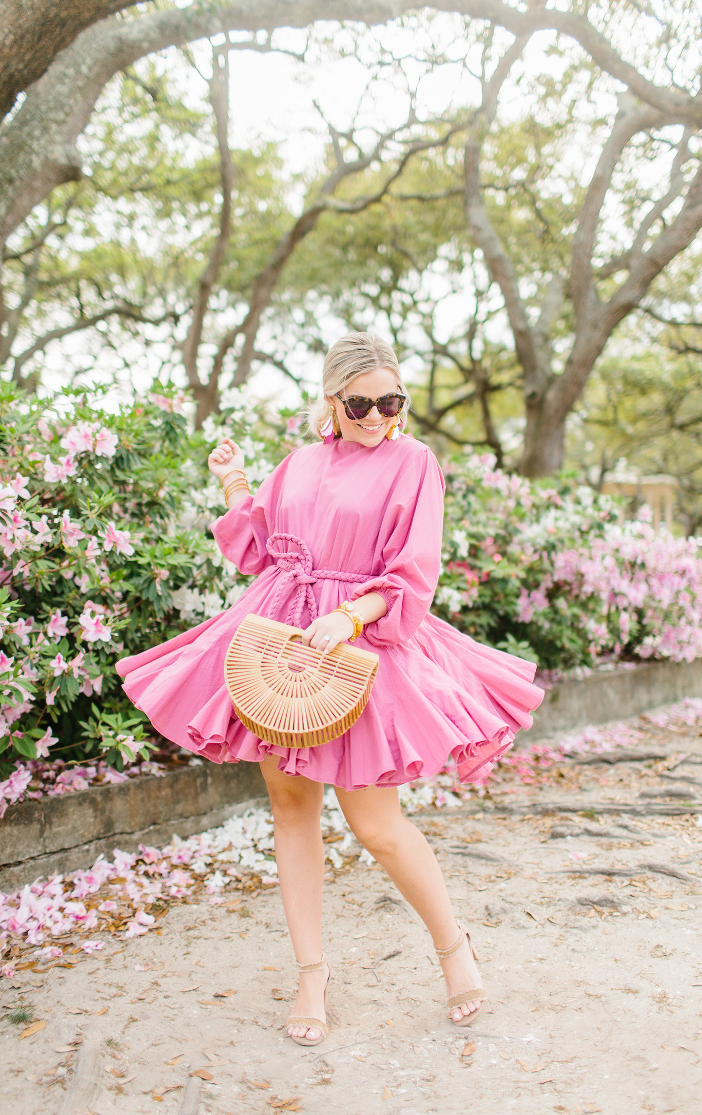 Pink Twirl Rhodes Resort Dress