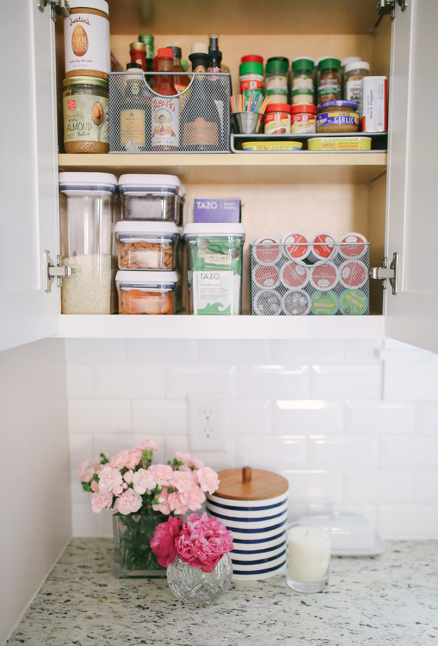 Organized Pantry with Bed Bath & Beyond