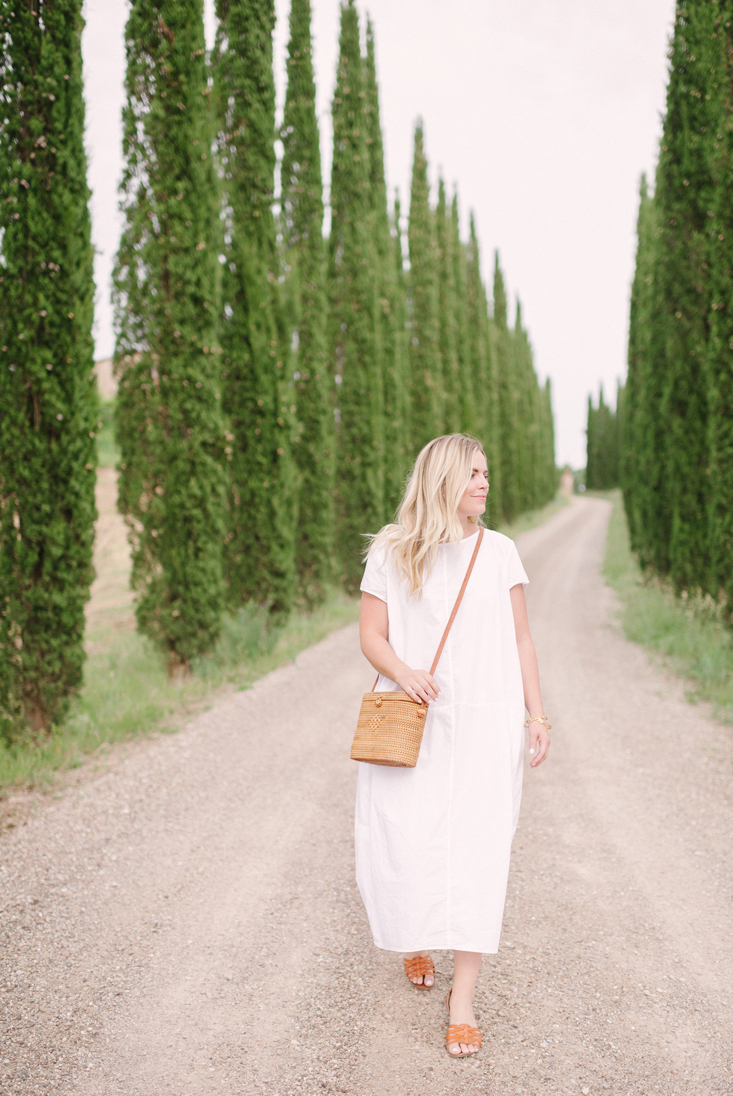 Little White Dress in Tuscany
