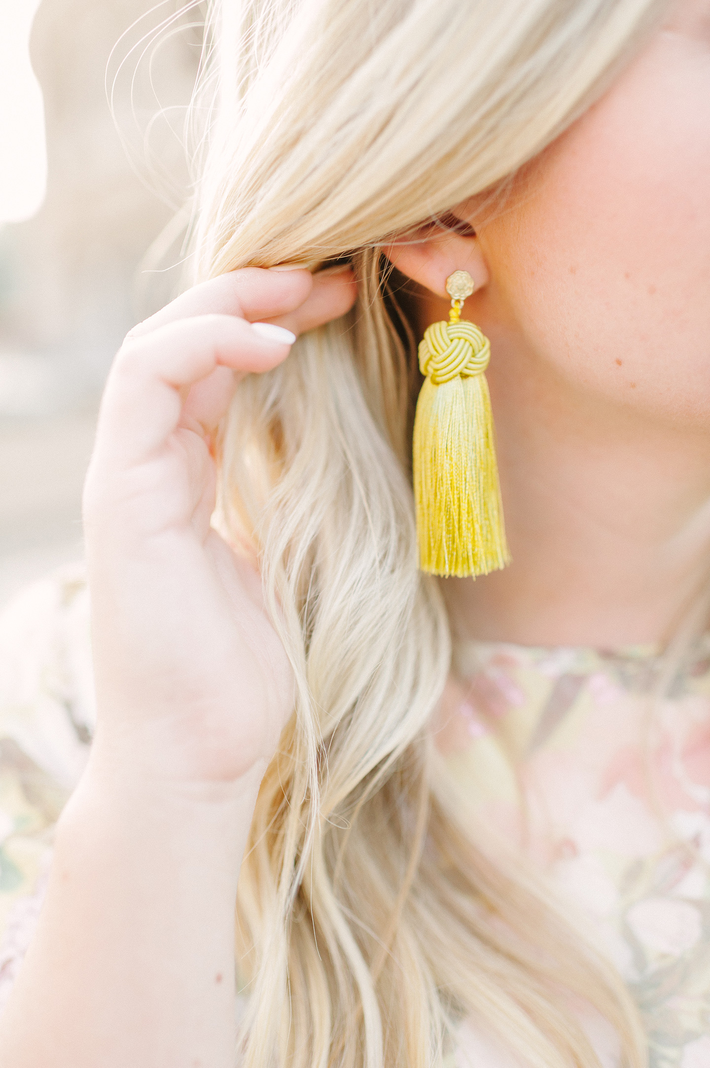 Hart Haggarty Chartreuse Tassel Earrings