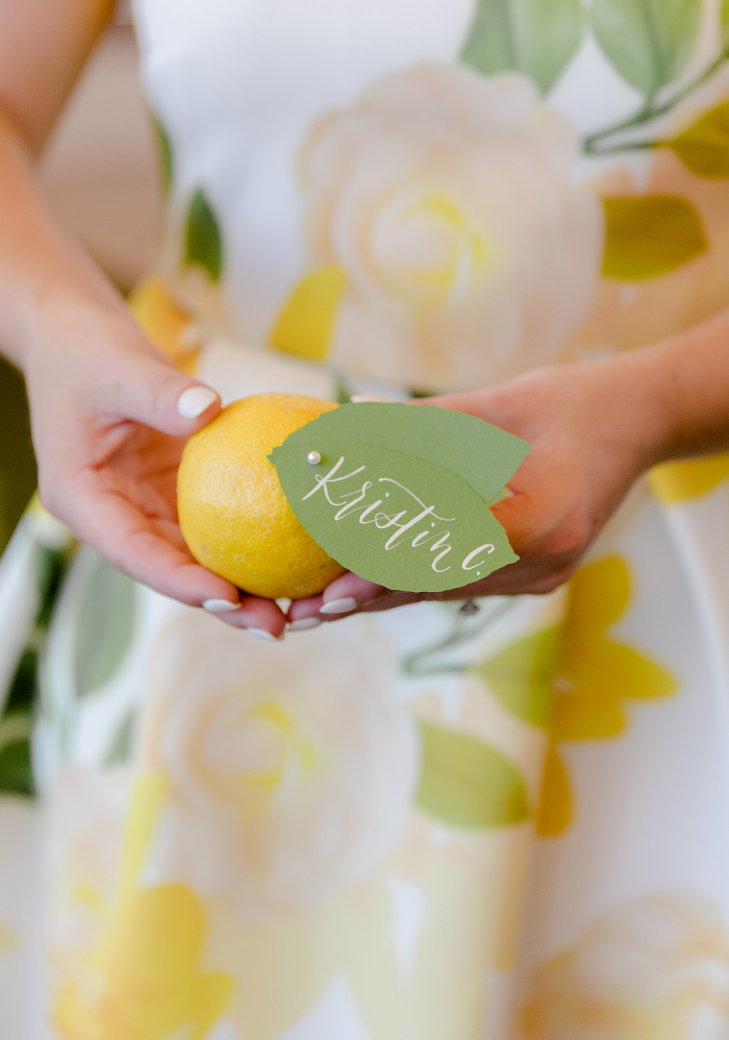 Lemon Name Cards / Place Cards