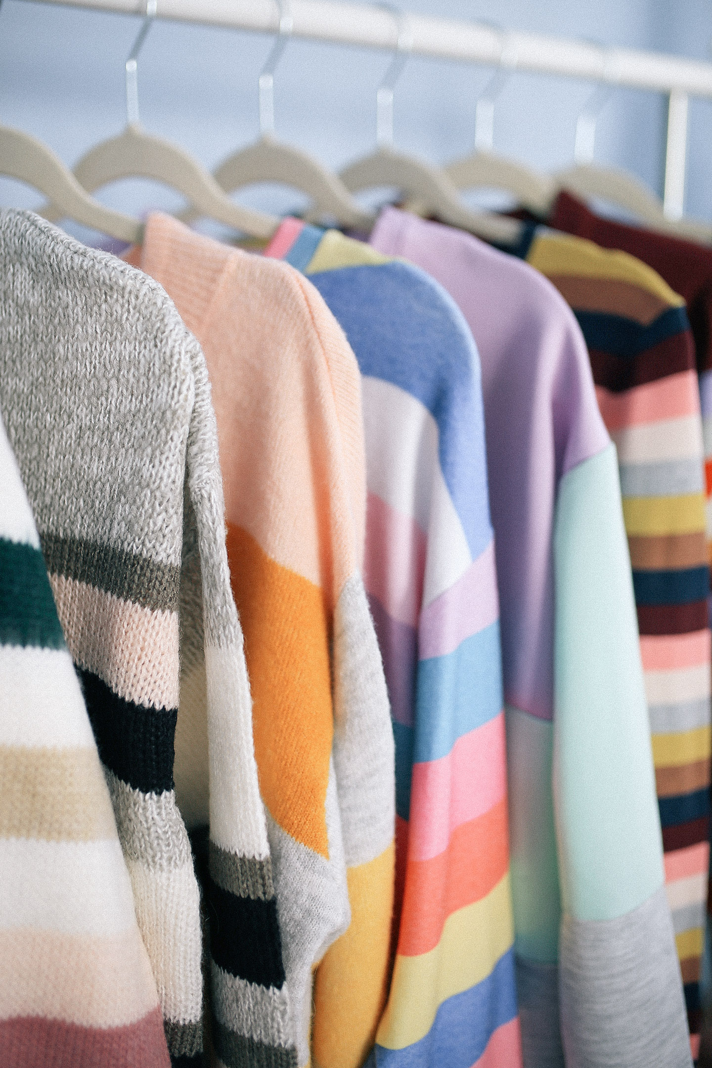 COLOR by K | Trending Tuesday: Rainbow Stripe Sweaters