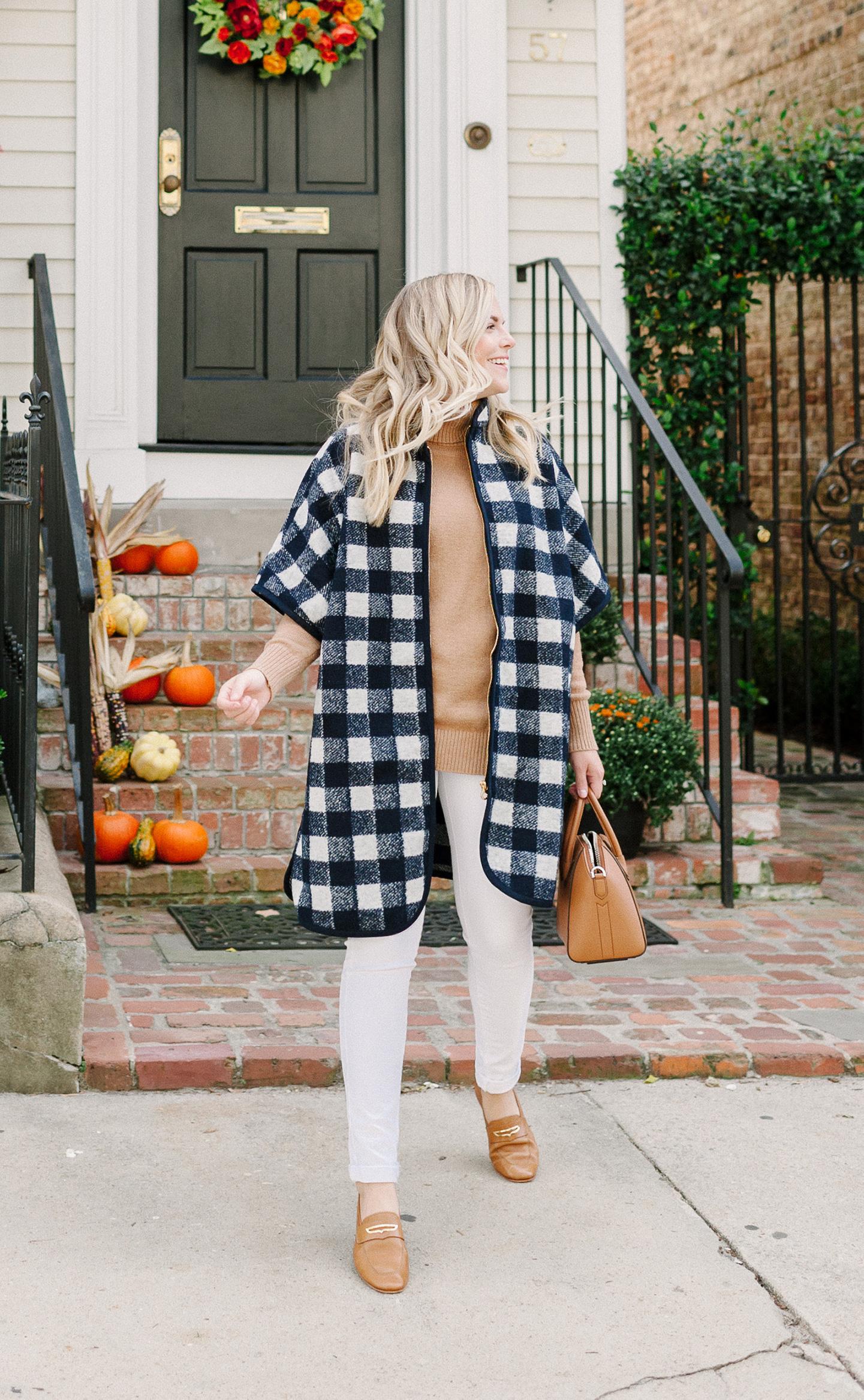 Navy Check Coat | COLOR by K