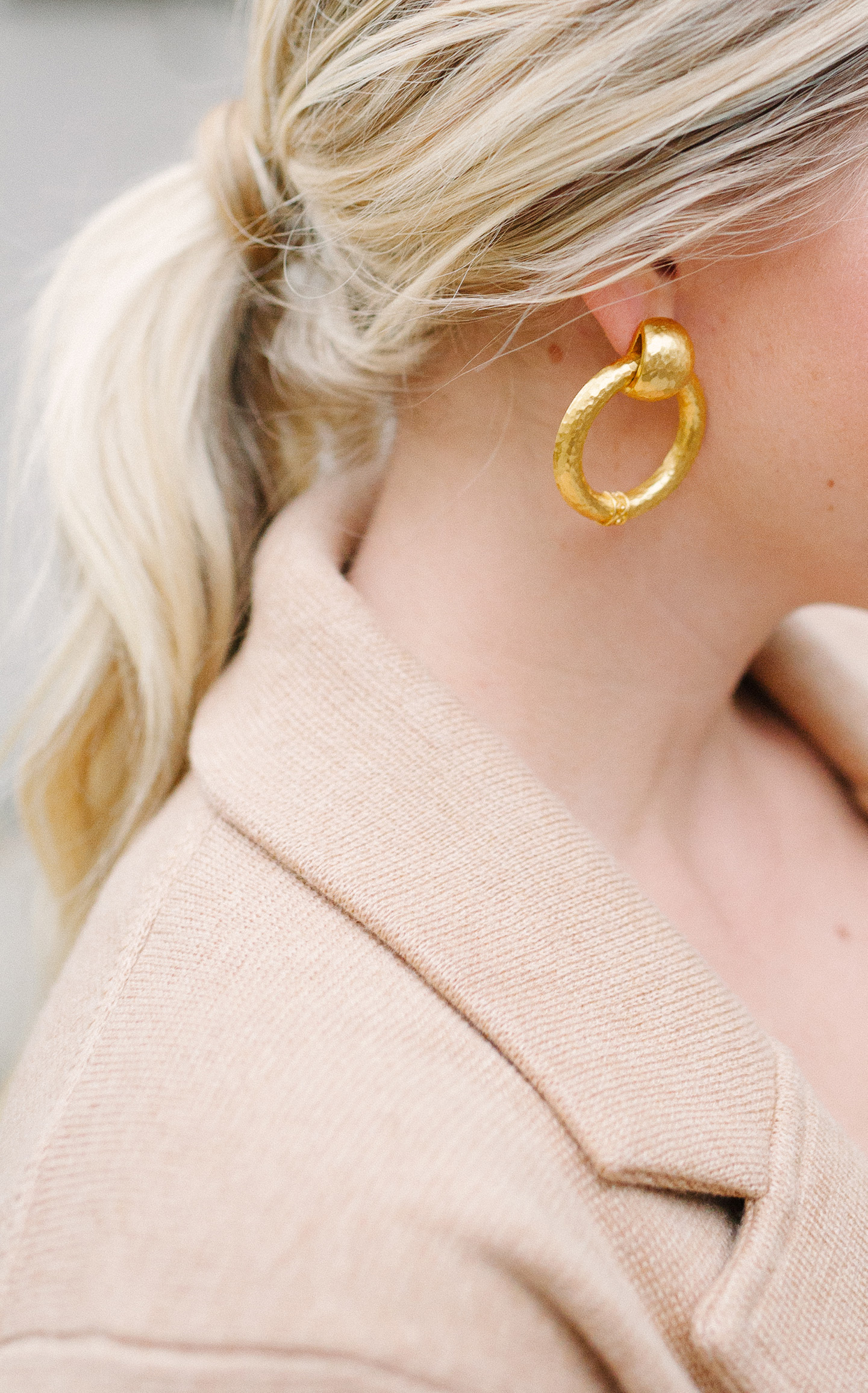 Julie Vos Gold Door Knocker Earrings
