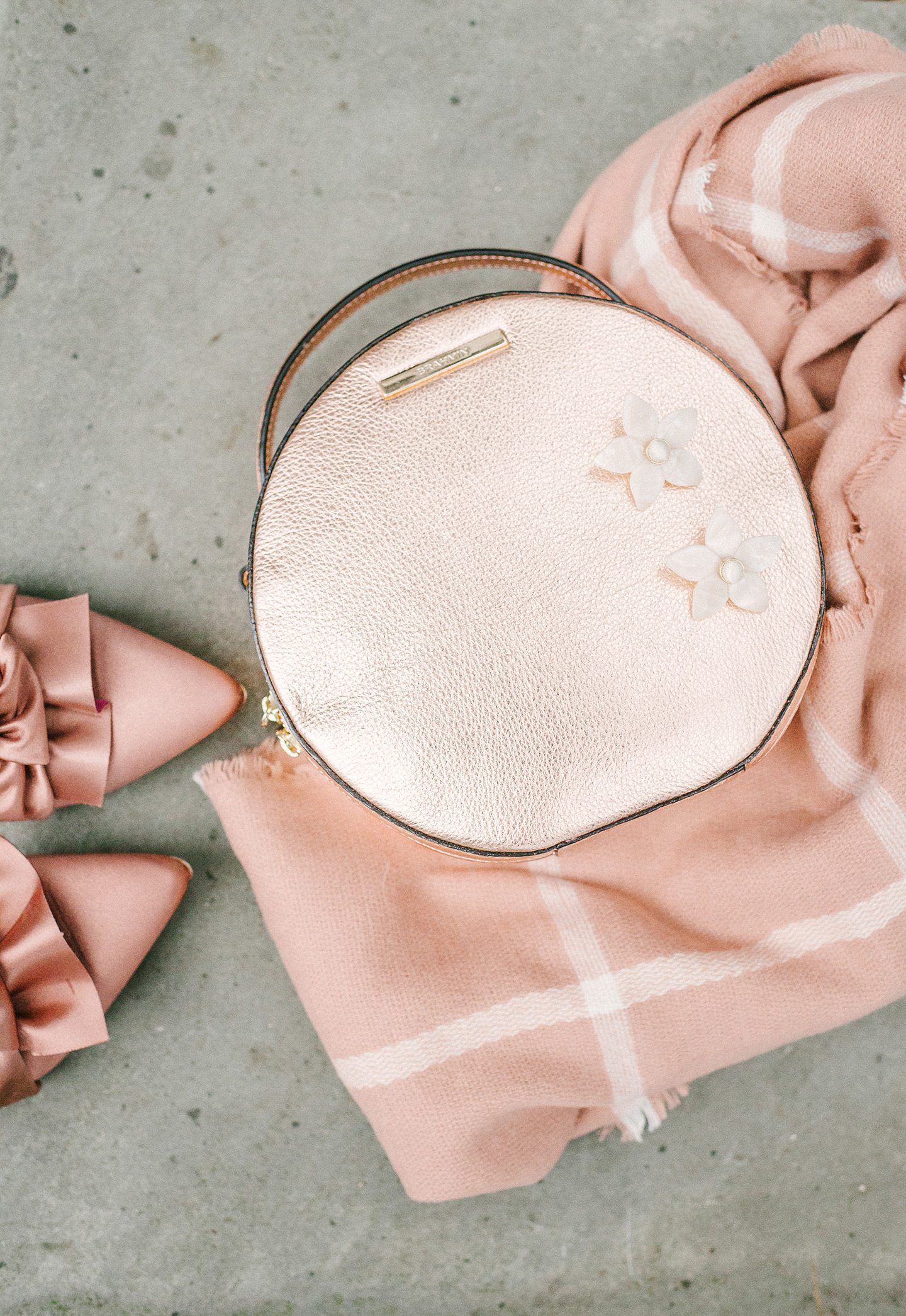 Rose Gold Round Handbag   COLOR by K