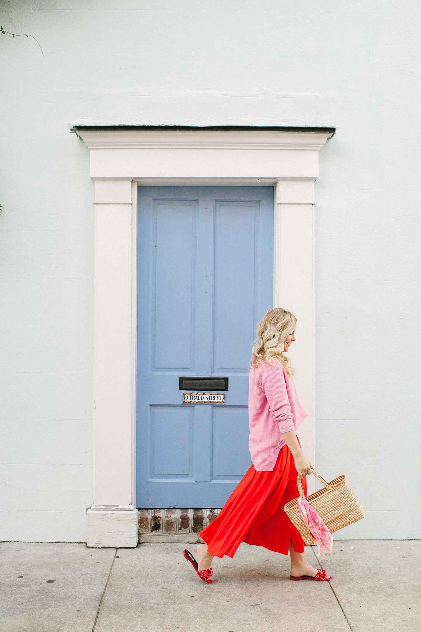 Vacay Valentine | Poppy Skirt + Pink Sweater