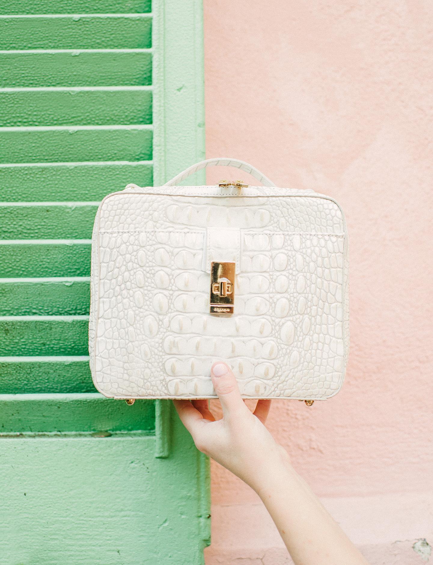 Brahmin White Pearl Evie Handbag