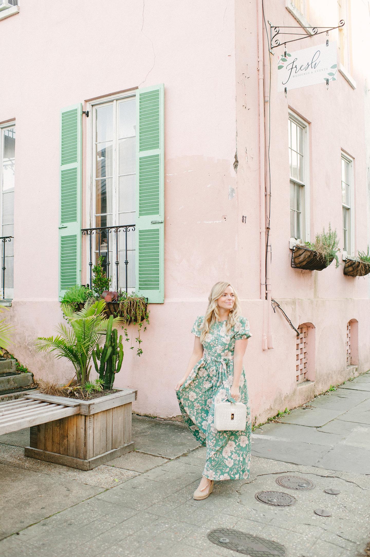 floral dresses in Charleston