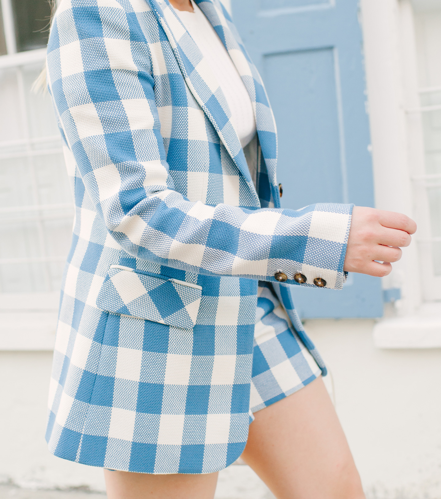 Blue + White Check Short Suit | COLOR by K