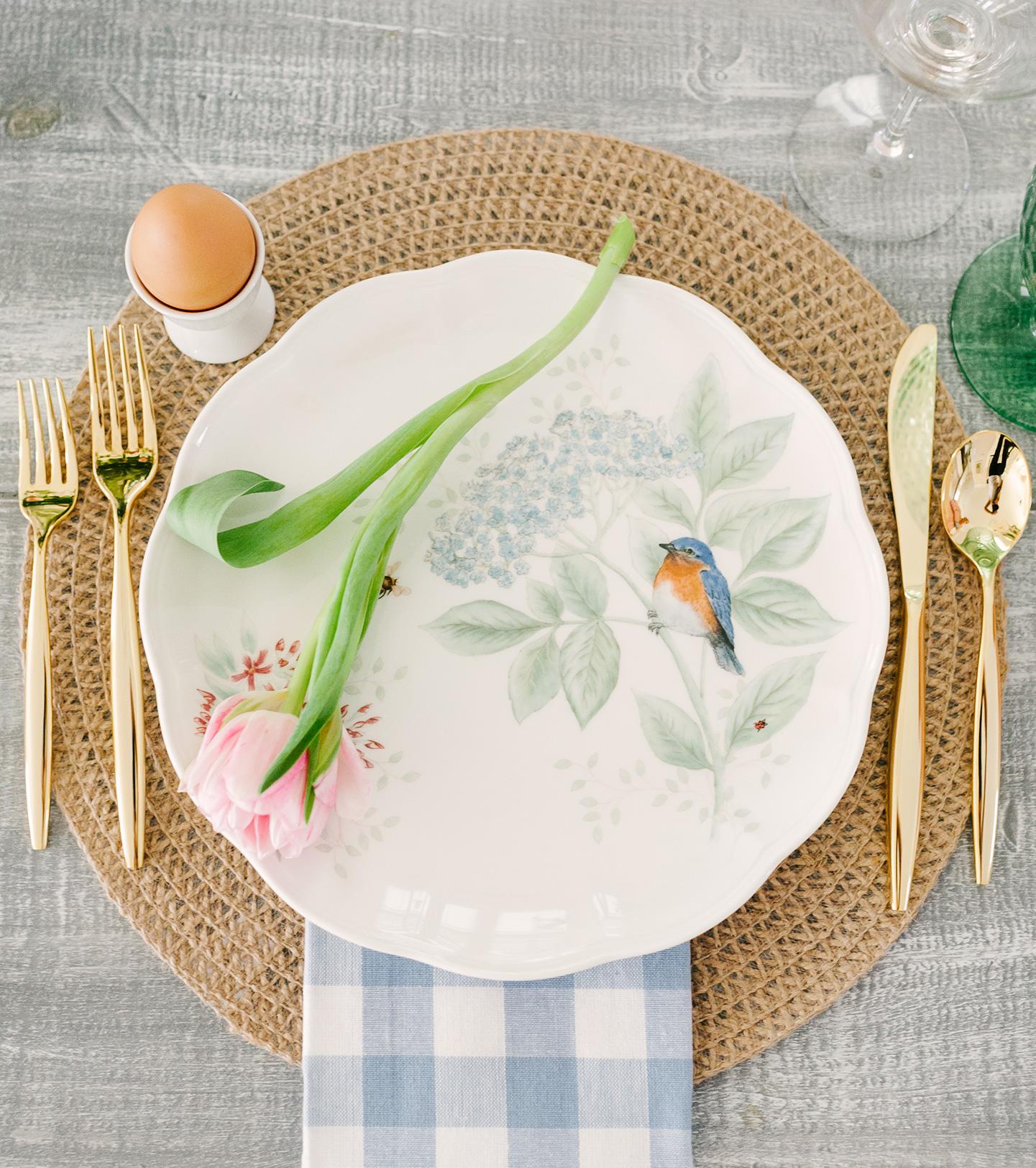Easter Flower + Bird Plates