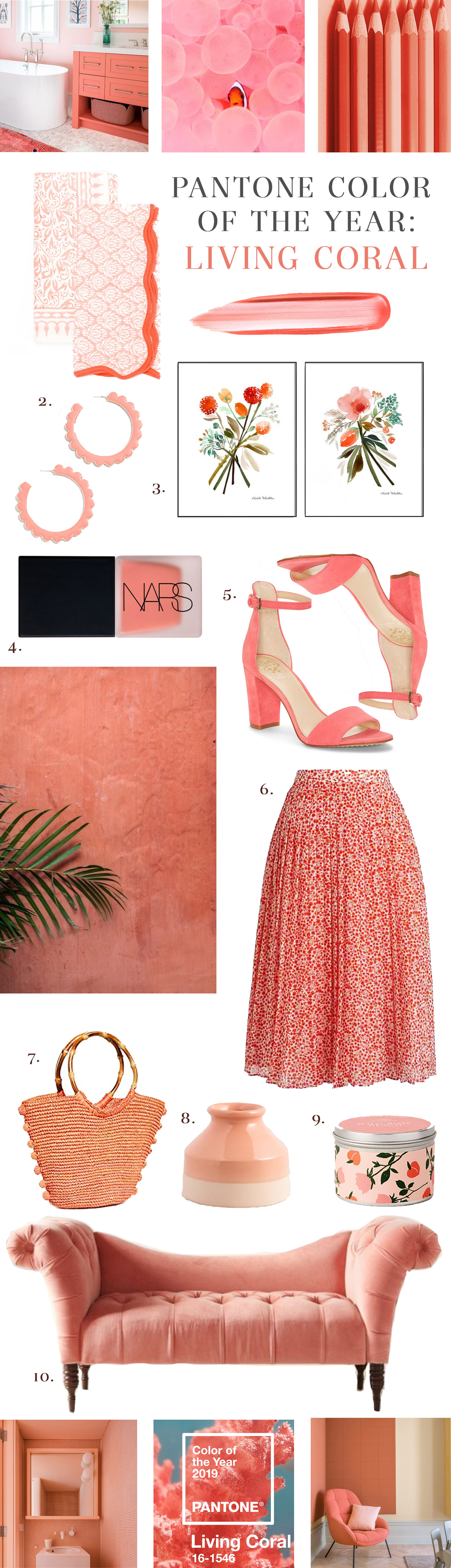 Pantone Color of the Year 2019 | Living Coral