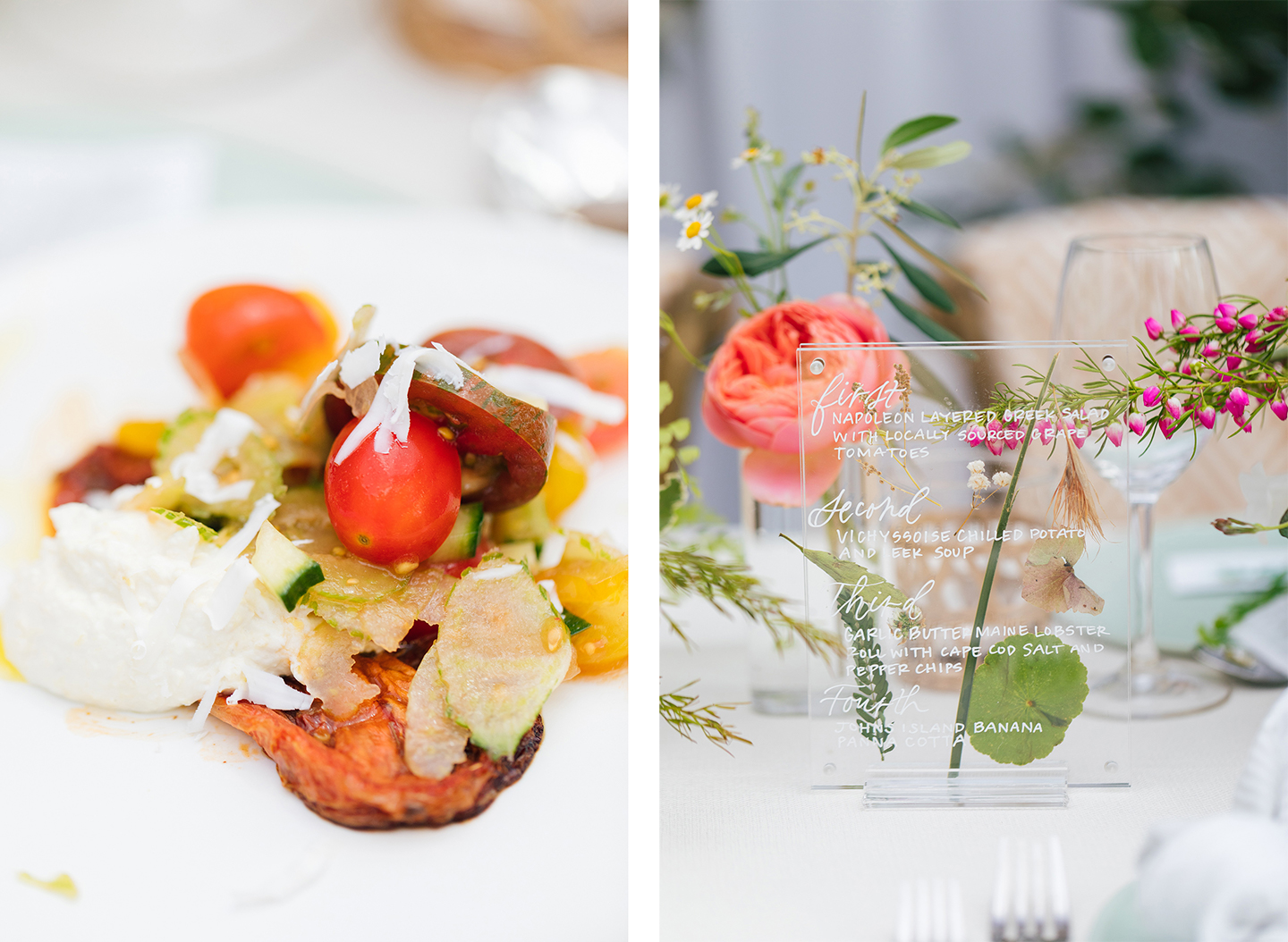 Pressed Flower Menu | COLOR by K