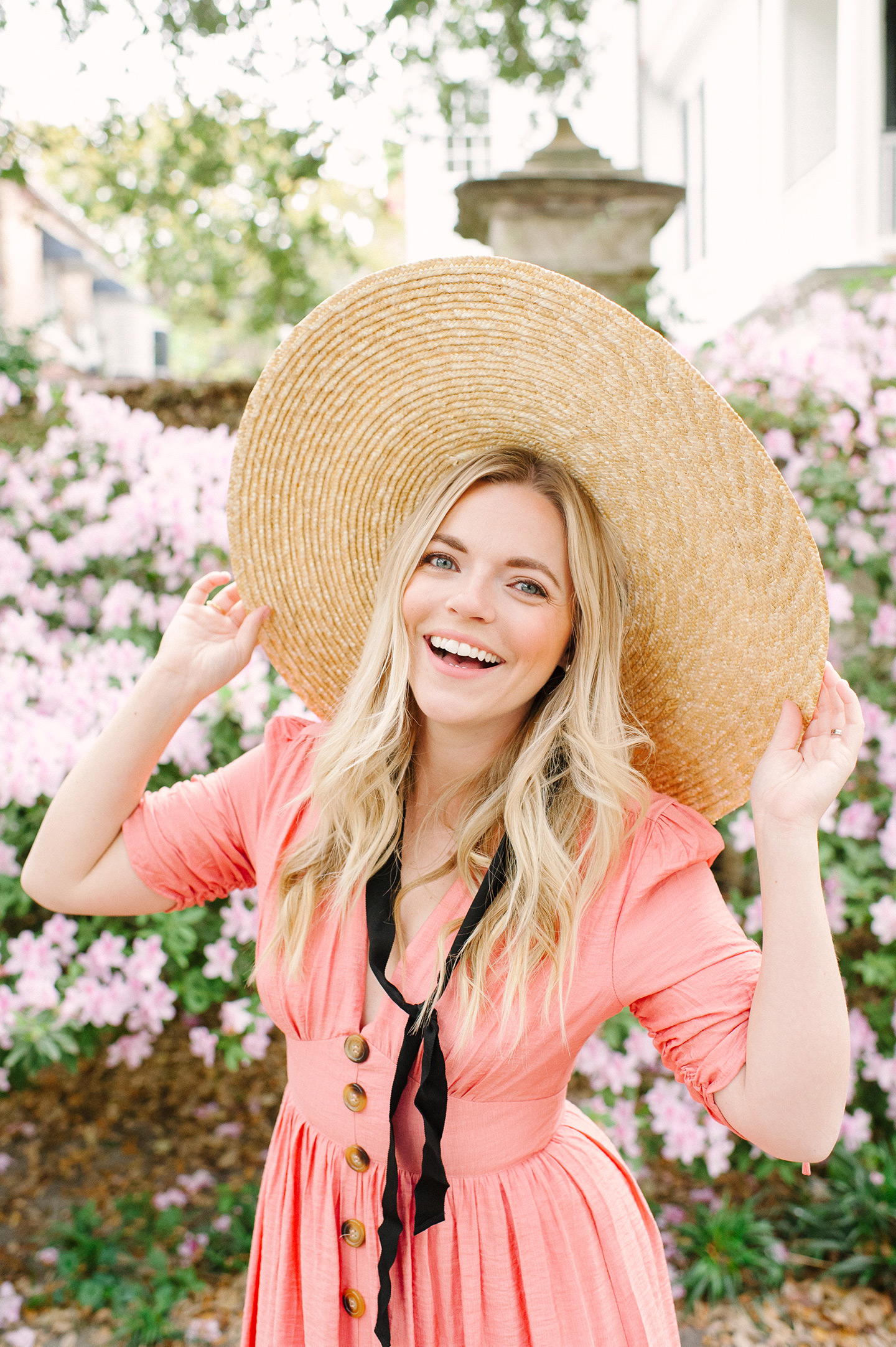 Flat Straw Boater Hat