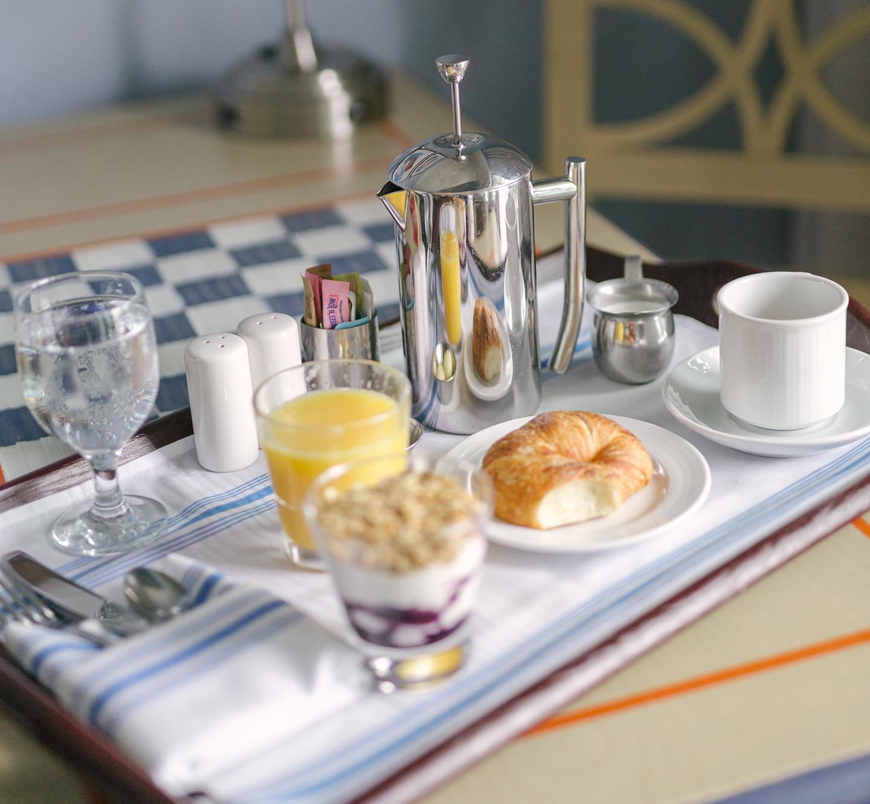 Beach Club Charleston In-Room Dining Breakfast