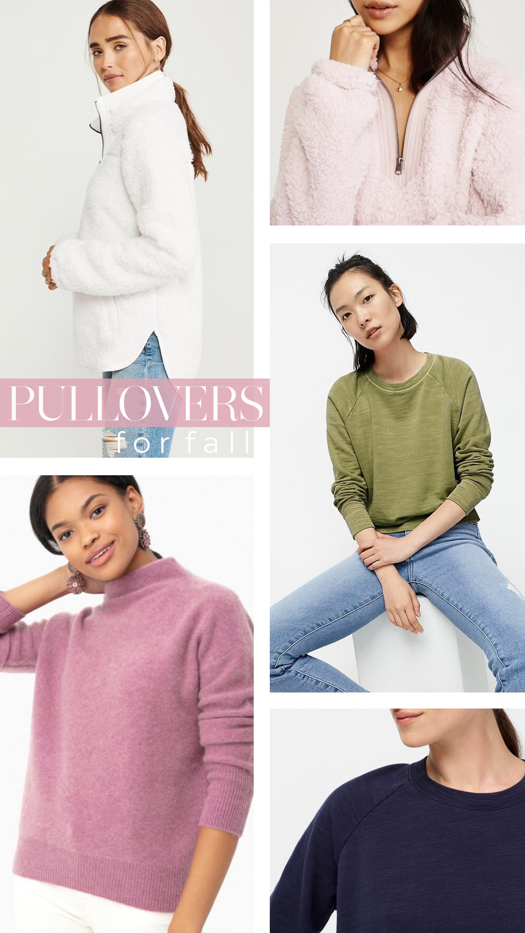 Pullover Sweaters for Fall