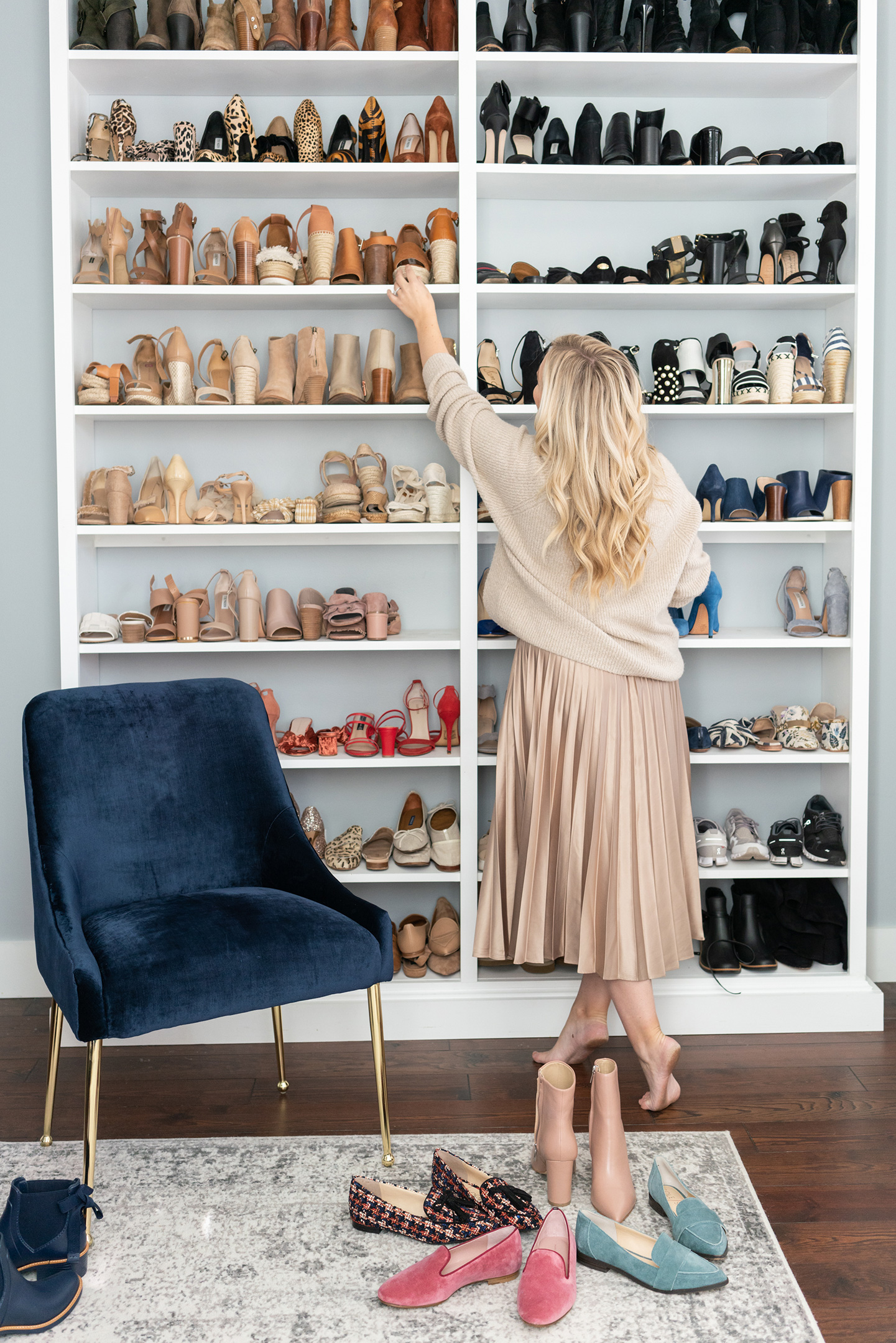 Shoe Wall in Master Bedroom