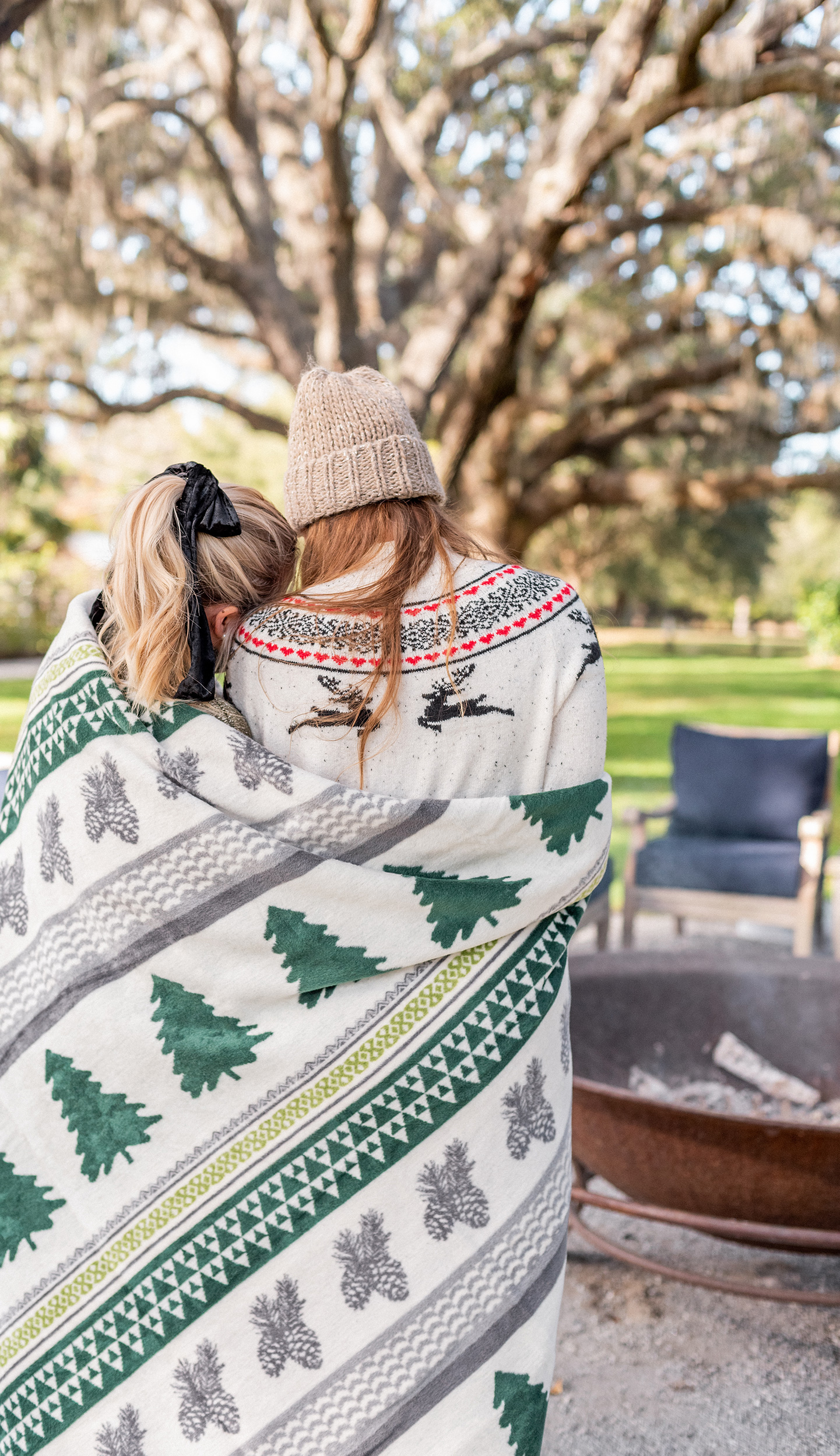 Bundled in a ChappyWrap Blanket by the Fire | Creative Conversation Starters