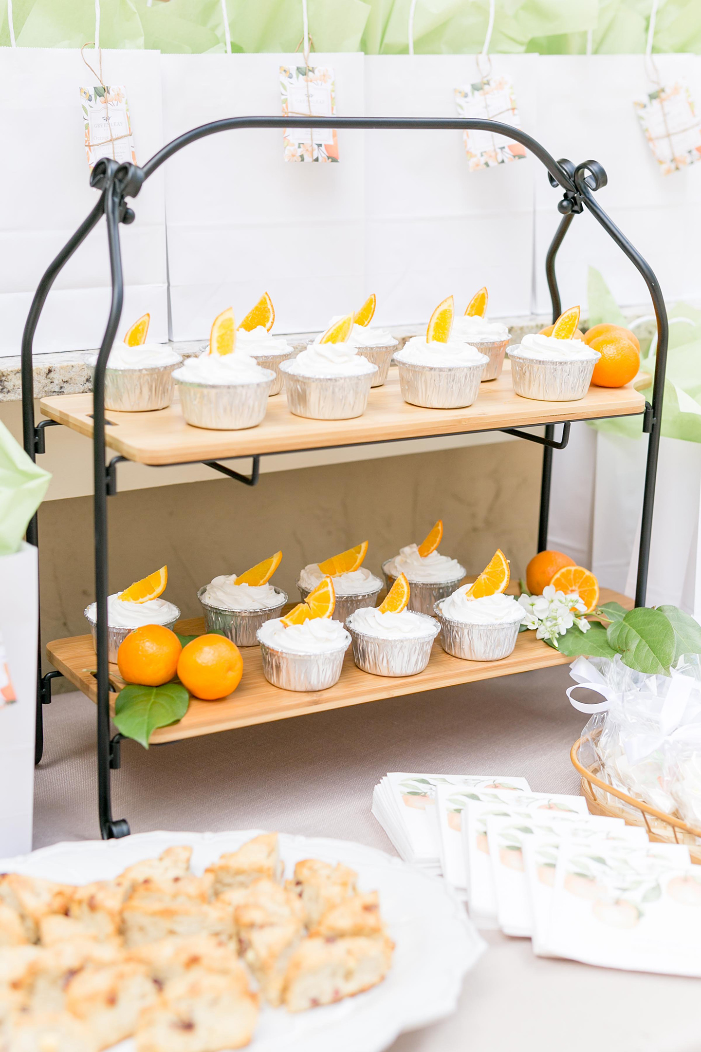 Citrus Bridal Shower Dessert Table