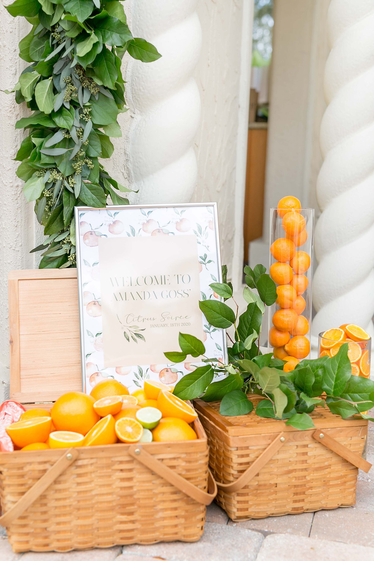 Citrus Bridal Shower Entry