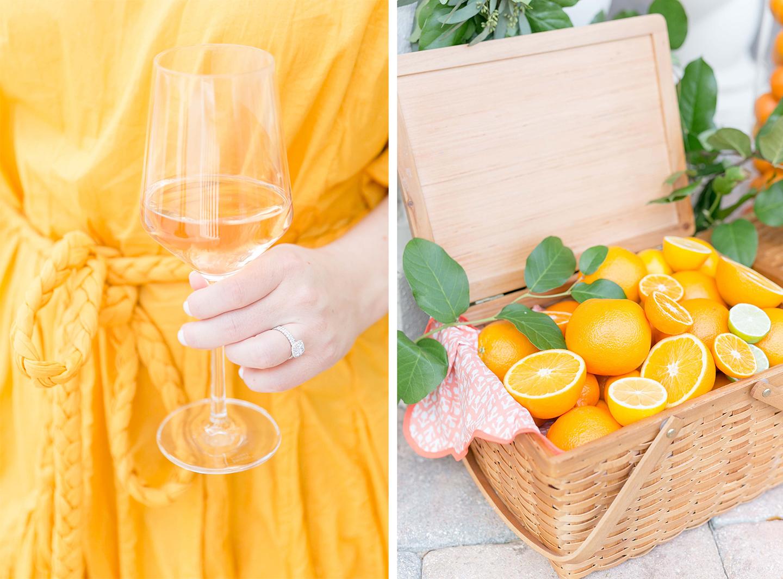 Citrus Themed Bridal Shower