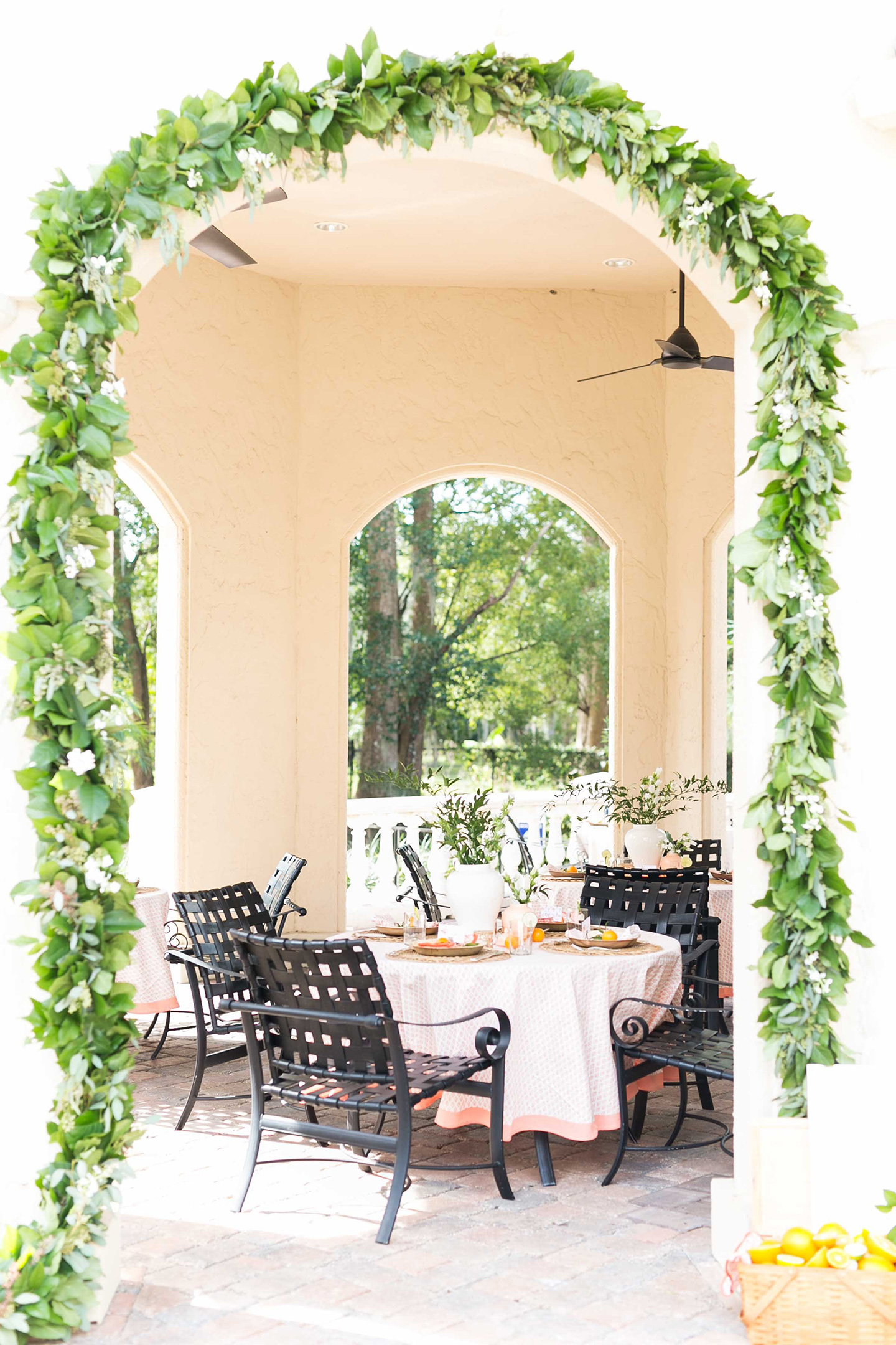 Salal + Seeded Eucalyptus Arched Garland by The Garland Guy