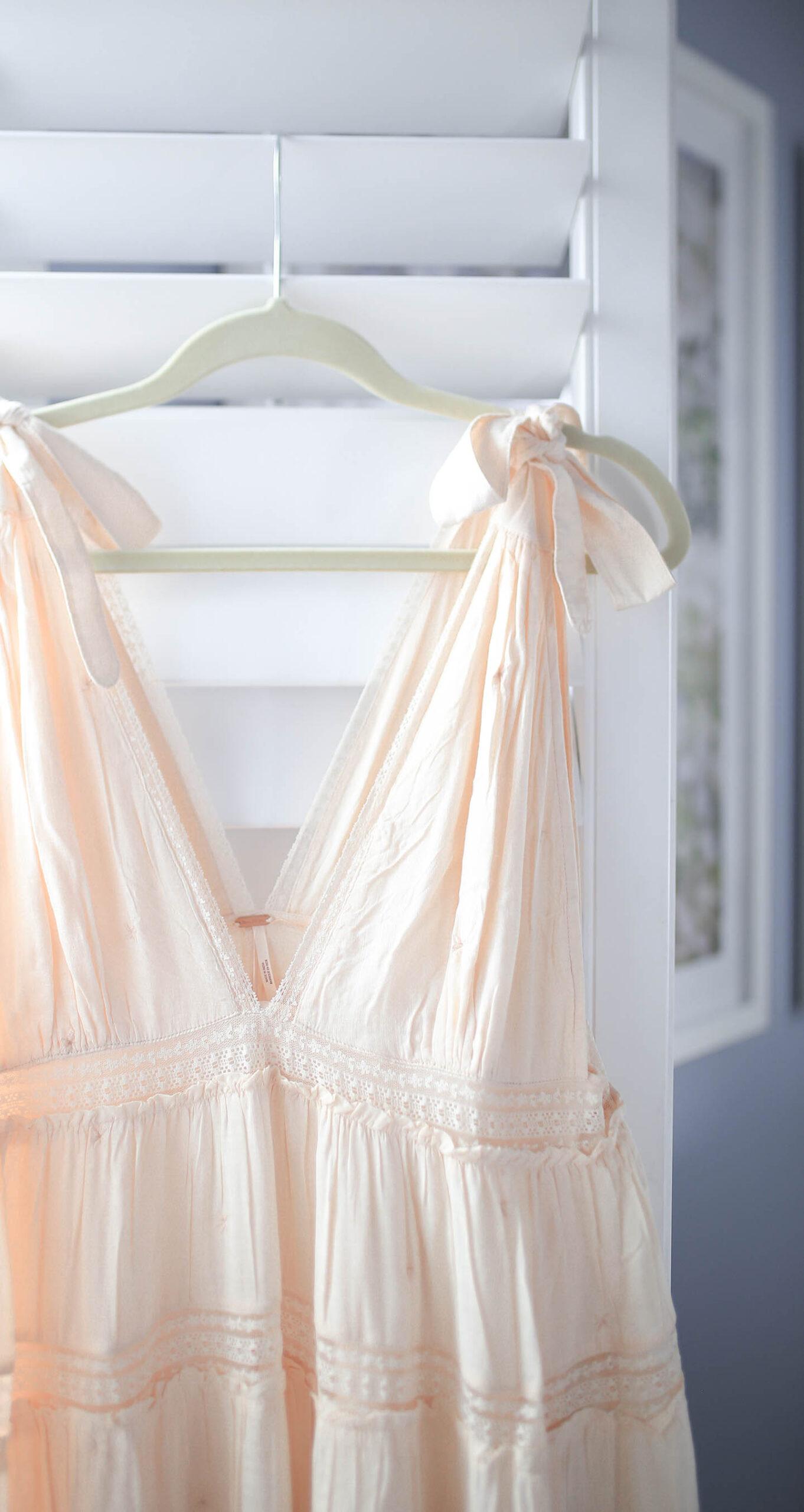 Blue Pink, Bow Tie Maxi Dress