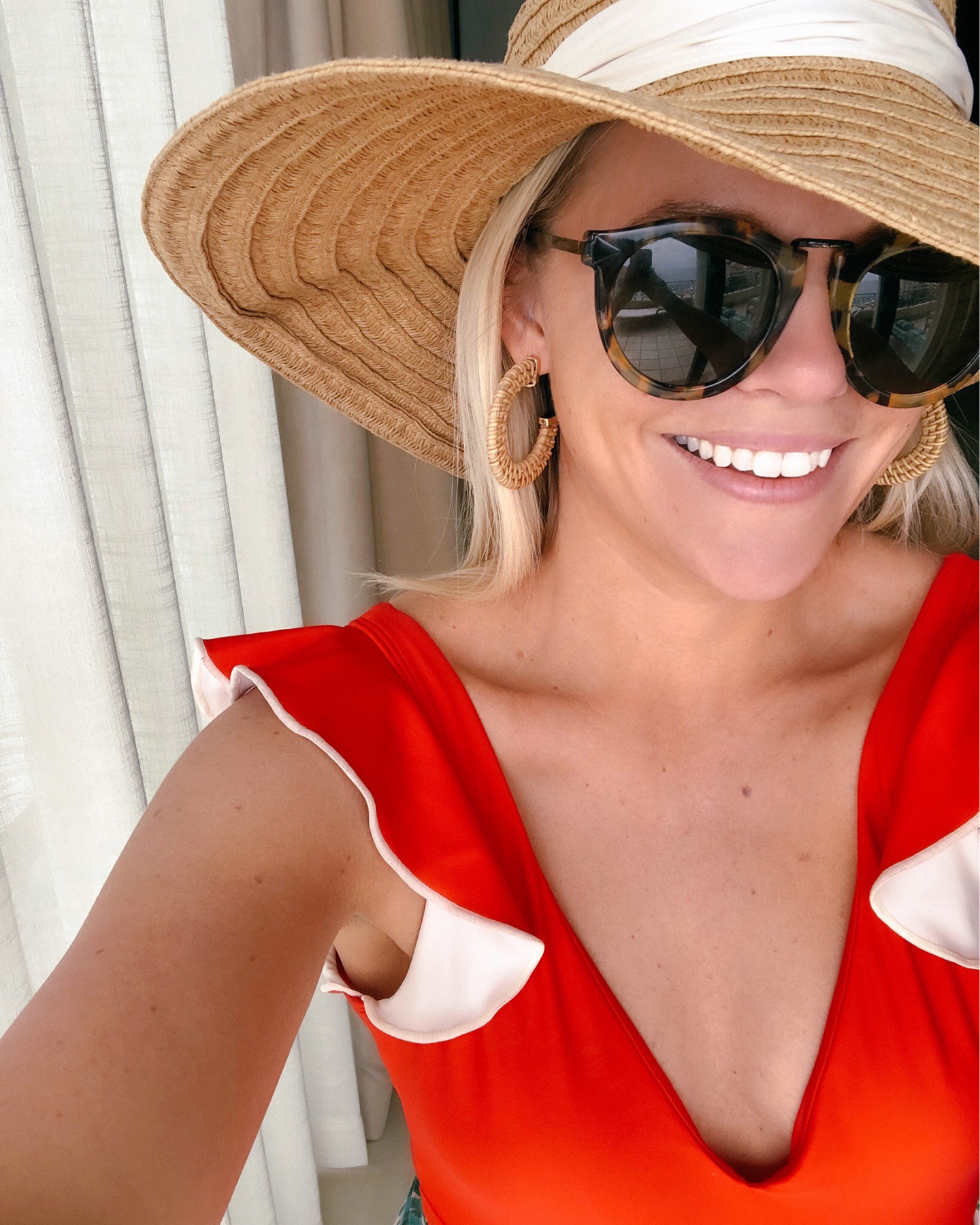 Red Ruffle Summersalt Swimsuit