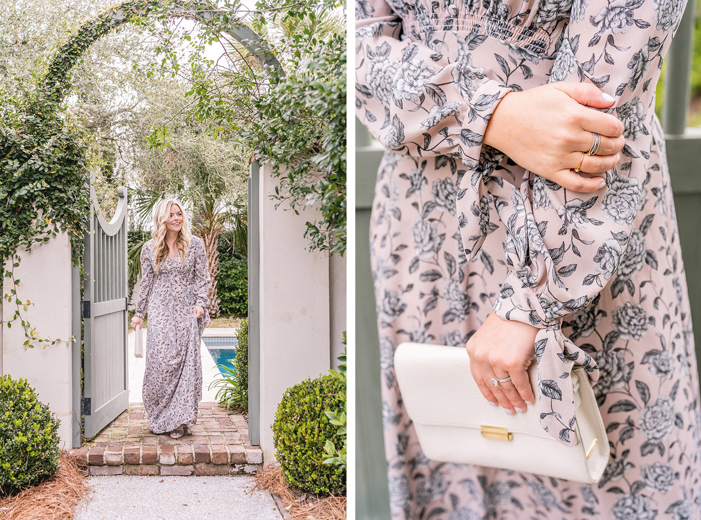 Winter Floral Fashion Maxi Dress