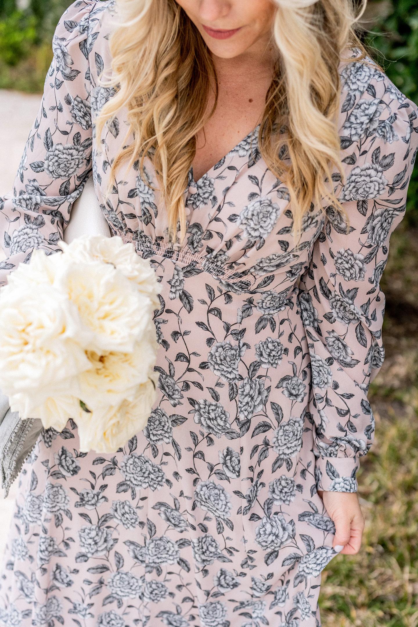 Winter Floral Fashion Dress
