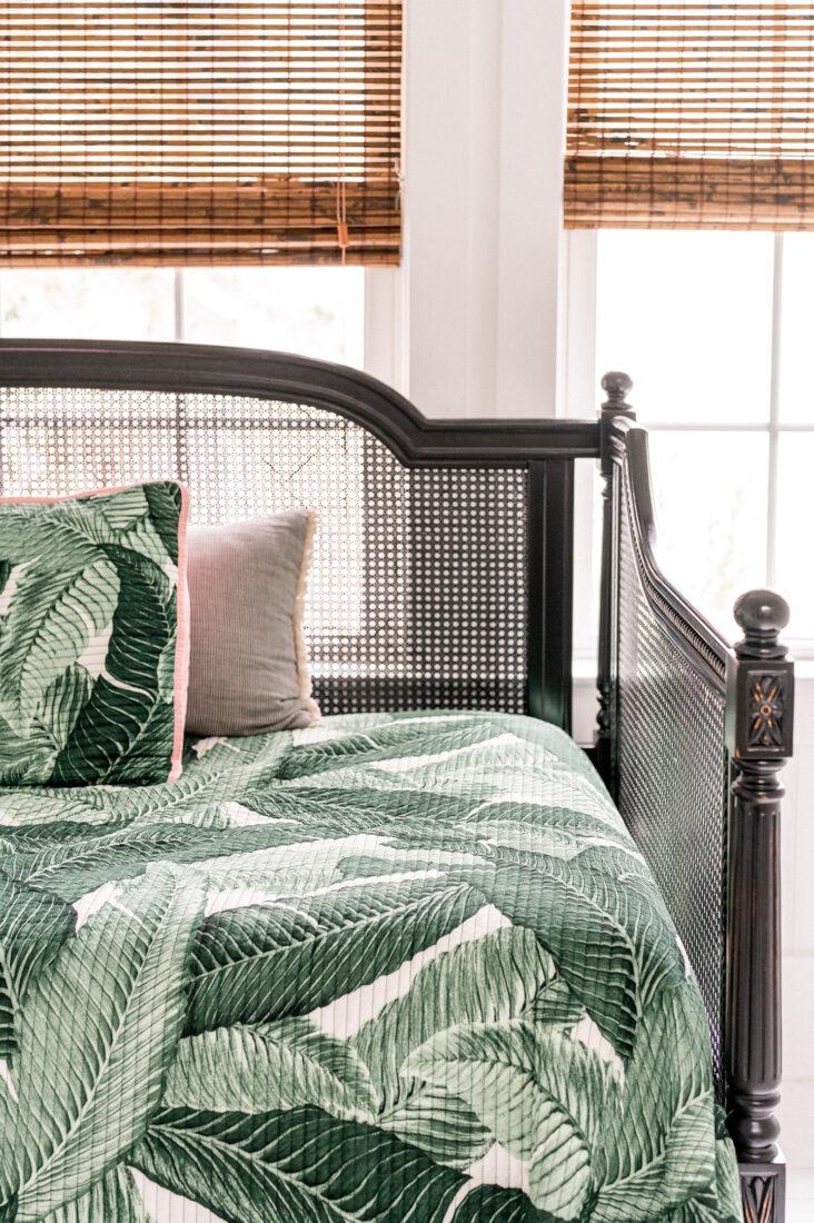 Vintage Palm Leaf Day Bed