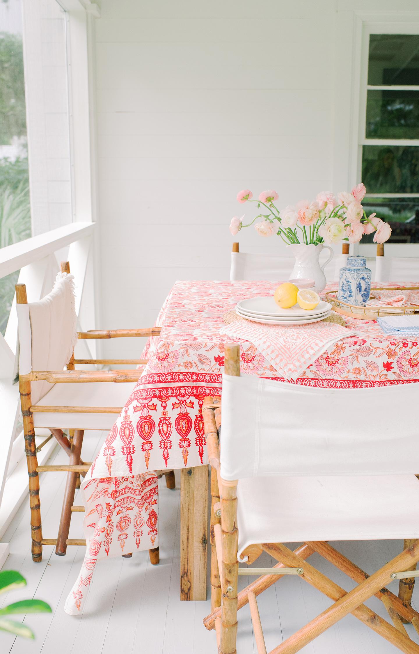 Spring Tabletop Spread | Coral + Pink
