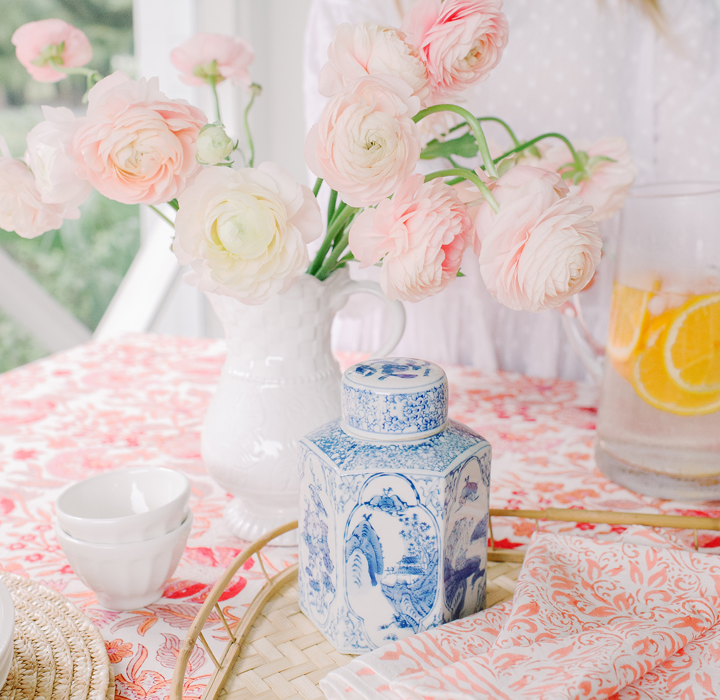 Chinoiserie Inspired Colorful Spring Tabletop Spread
