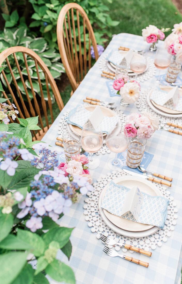 Nantucket Garden Tablescape