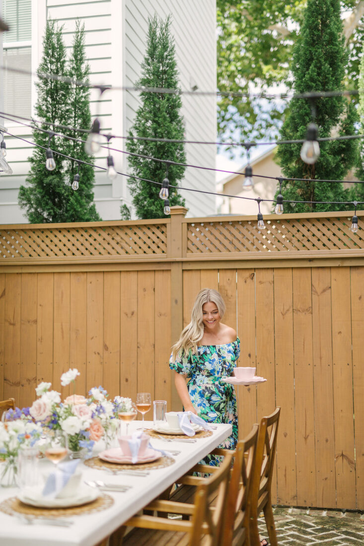 Kate Spade Tabletop | Blush Pink + Cream Scalloped Place Setting