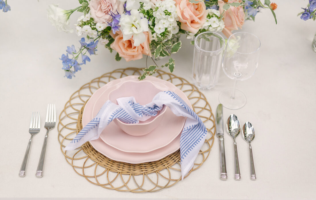 Kate Spade Tabletop Pink Place Setting