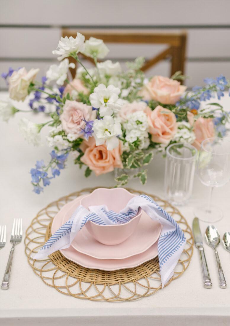 Kate Spade Tabletop | Blush Pink Scalloped Place Setting