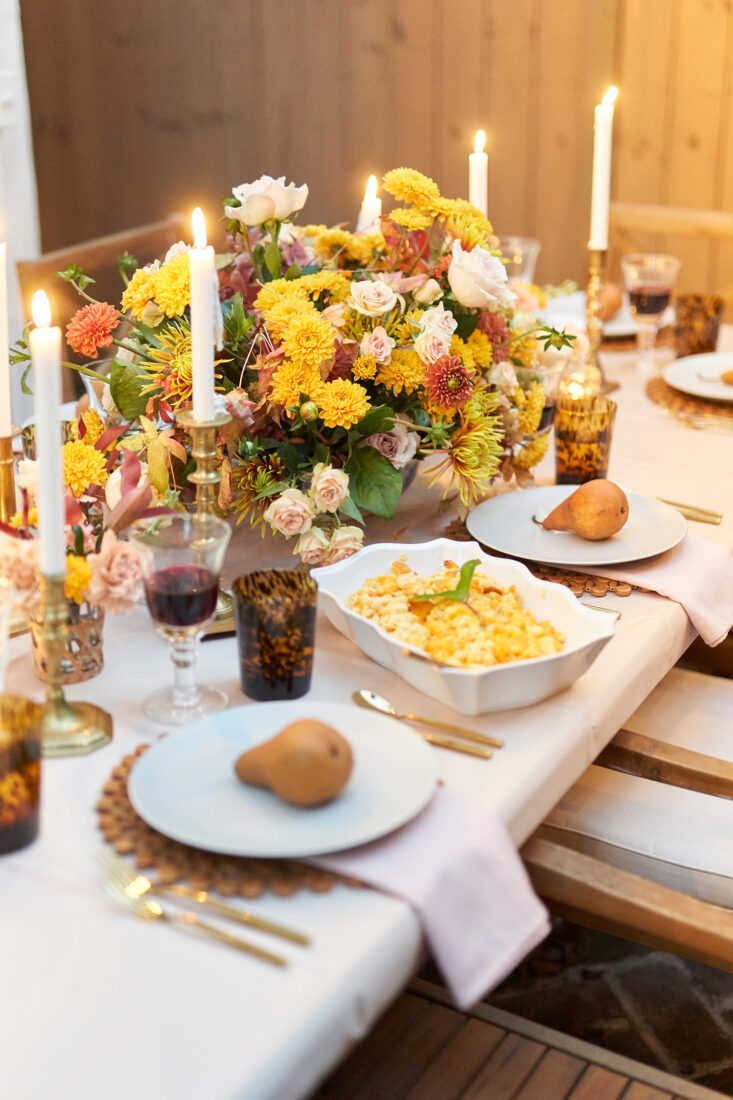 Outdoor Friendsgiving in Charleston, SC | Hamby Catering Thanksgiving spread